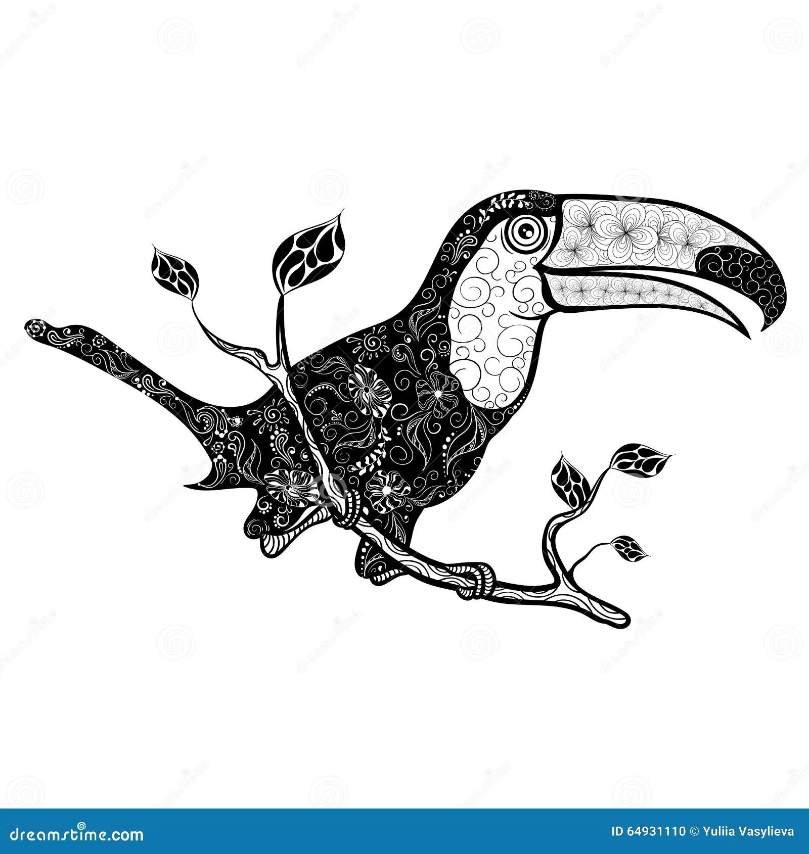 Toucan Doodle Stock Vector