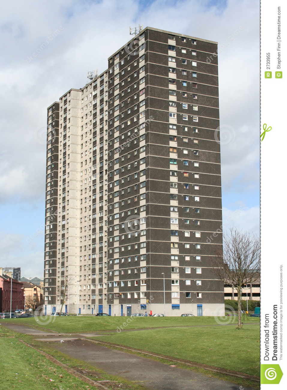 Tower Block Glasgow Royalty Free Stock Photo Image 2733955