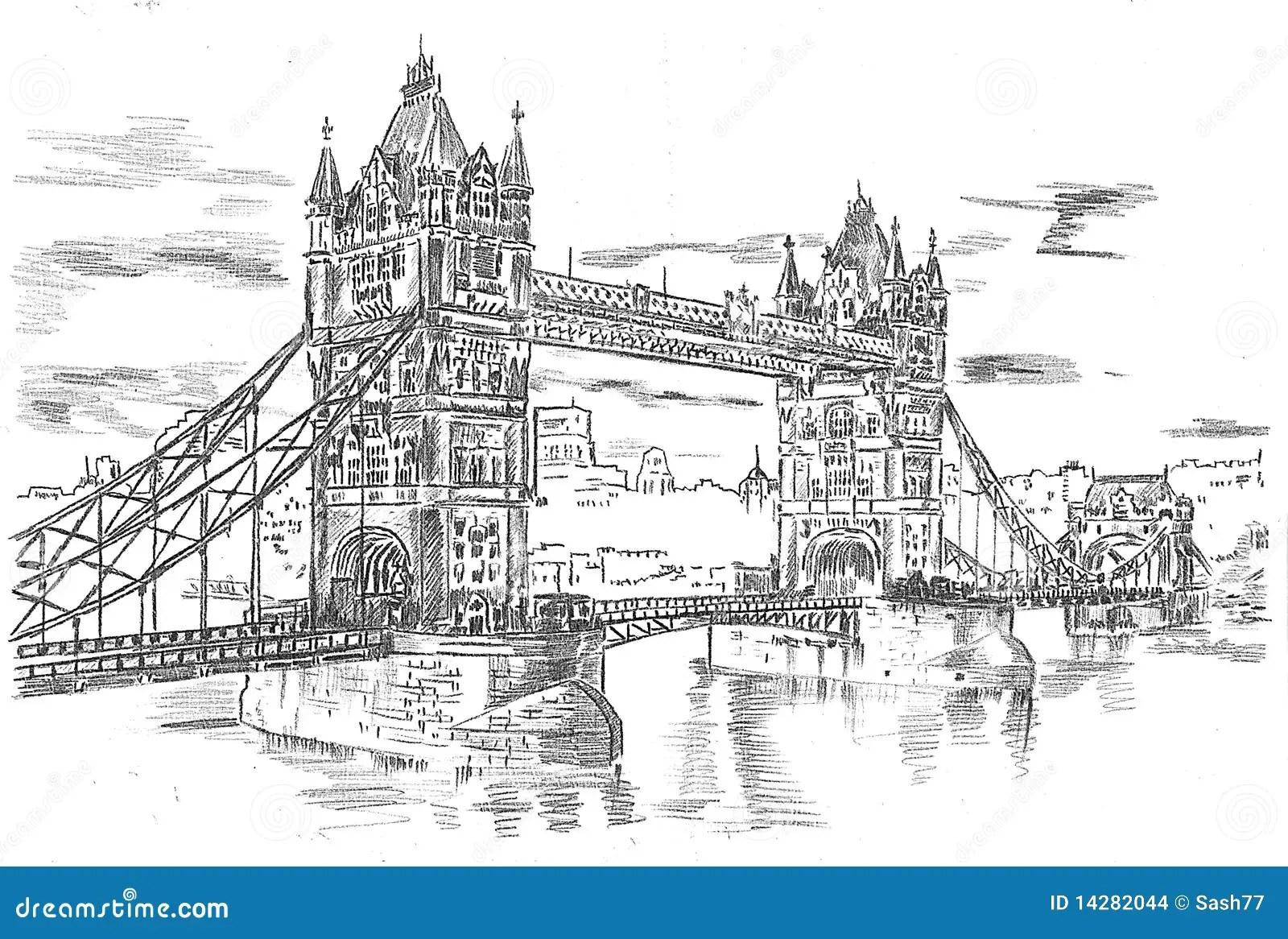 Tower Bridge Stock Illustration Illustration Of