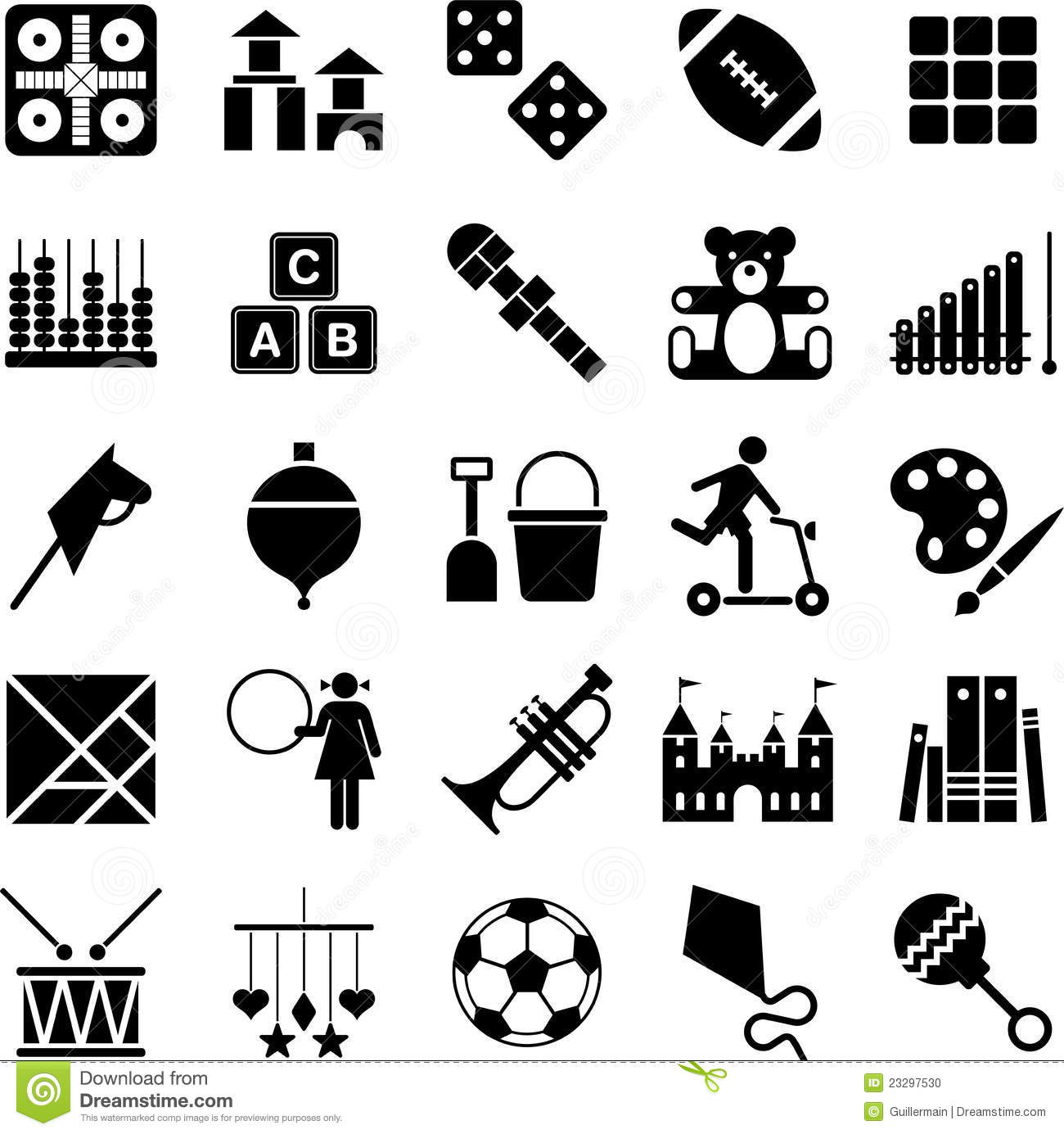 Toys Icons Stock Vector Illustration Of Instrument Icon