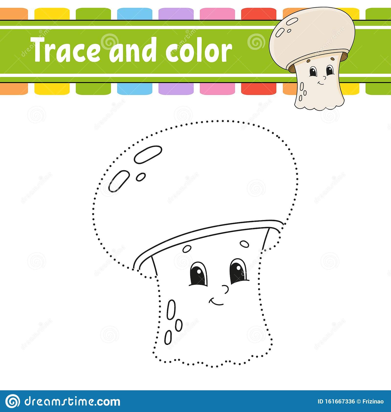 Trace And Color Coloring Page For Kids Handwriting