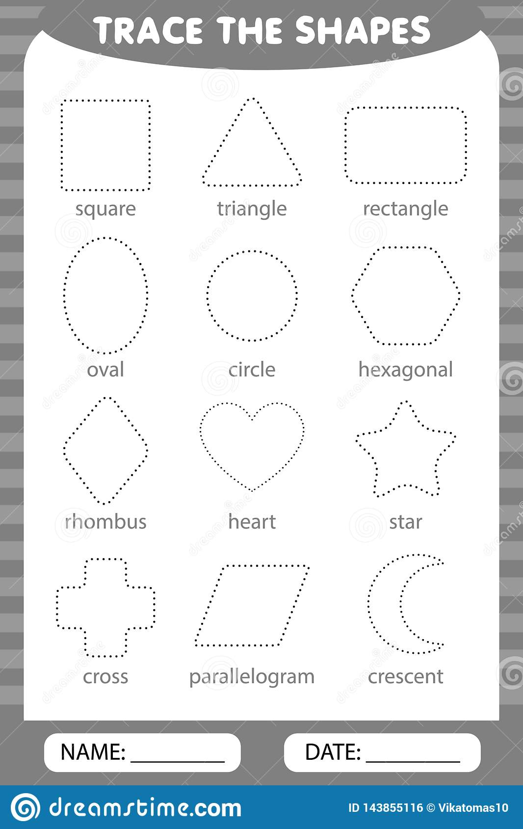 Trace The Geometric Shapes Around The Contour Learning