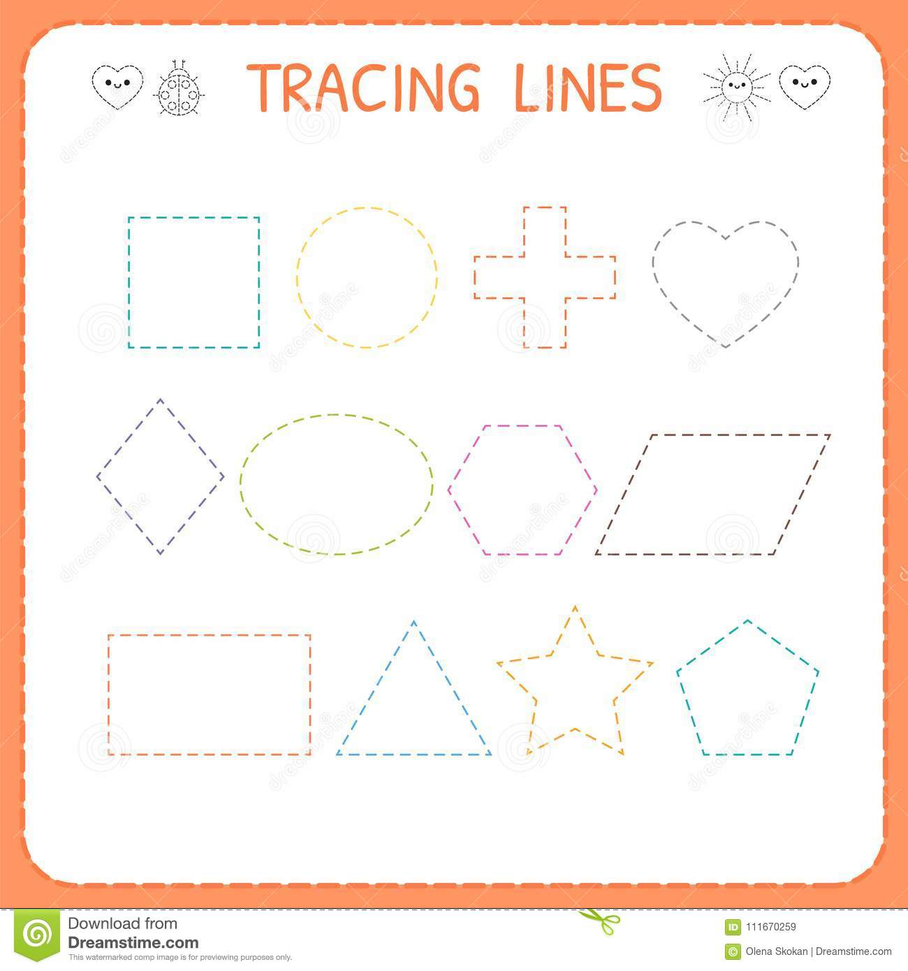 Worksheet For Kindergarten Shapes