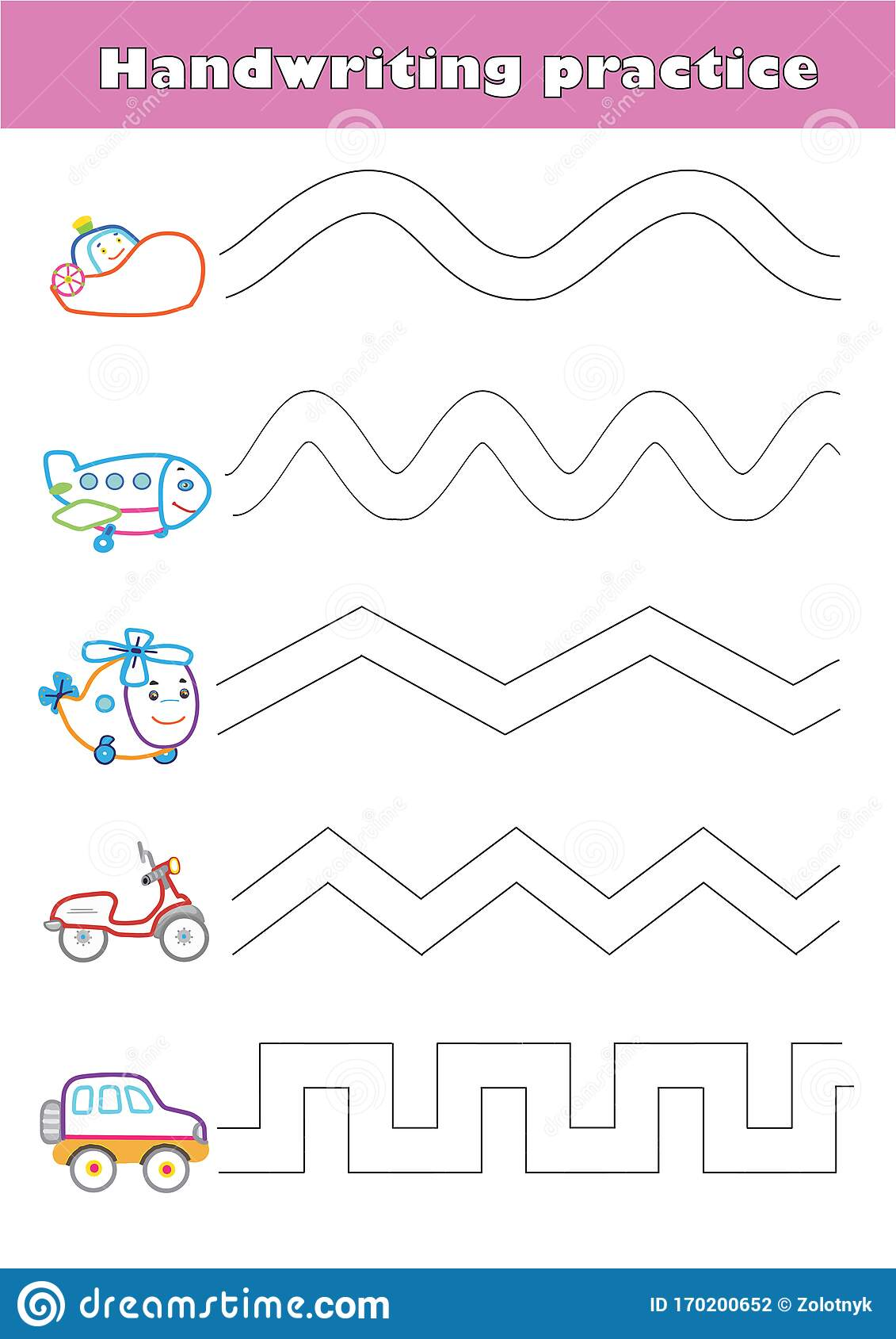 Preschool Worksheet Cartoon Vector