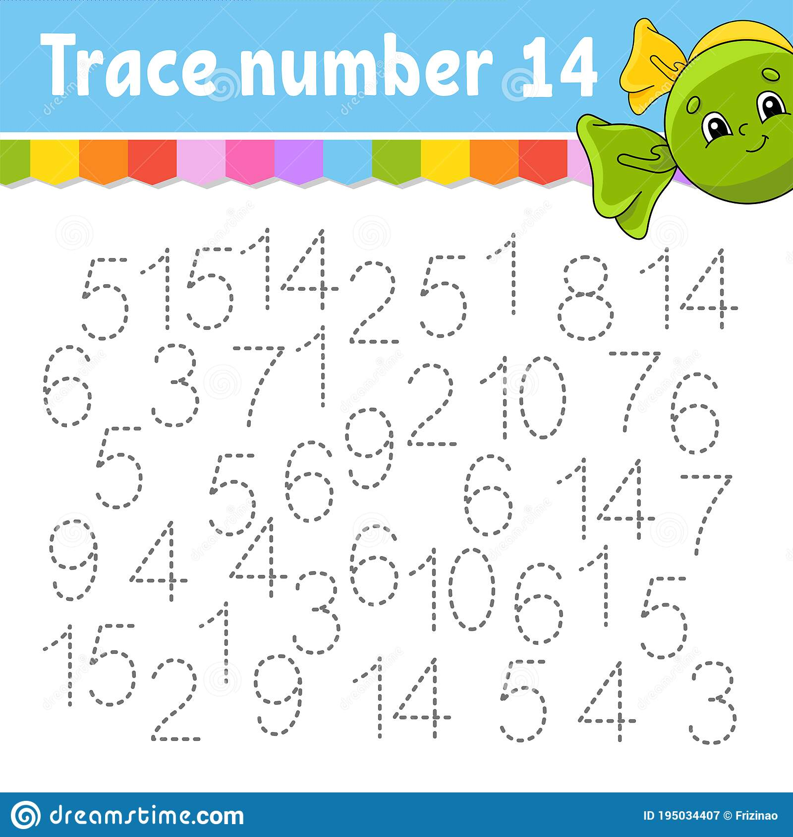 Trace Number Handwriting Practice Learning Numbers For