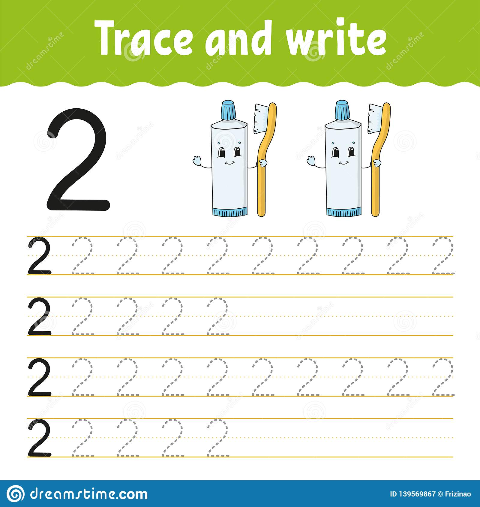 Trace And Write Handwriting Practice Learning Numbers For Kids Education Developing Worksheet
