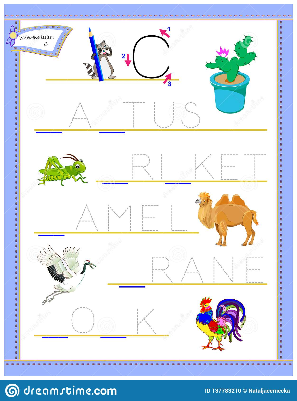 Tracing Letter C For Study English Alphabet Printable