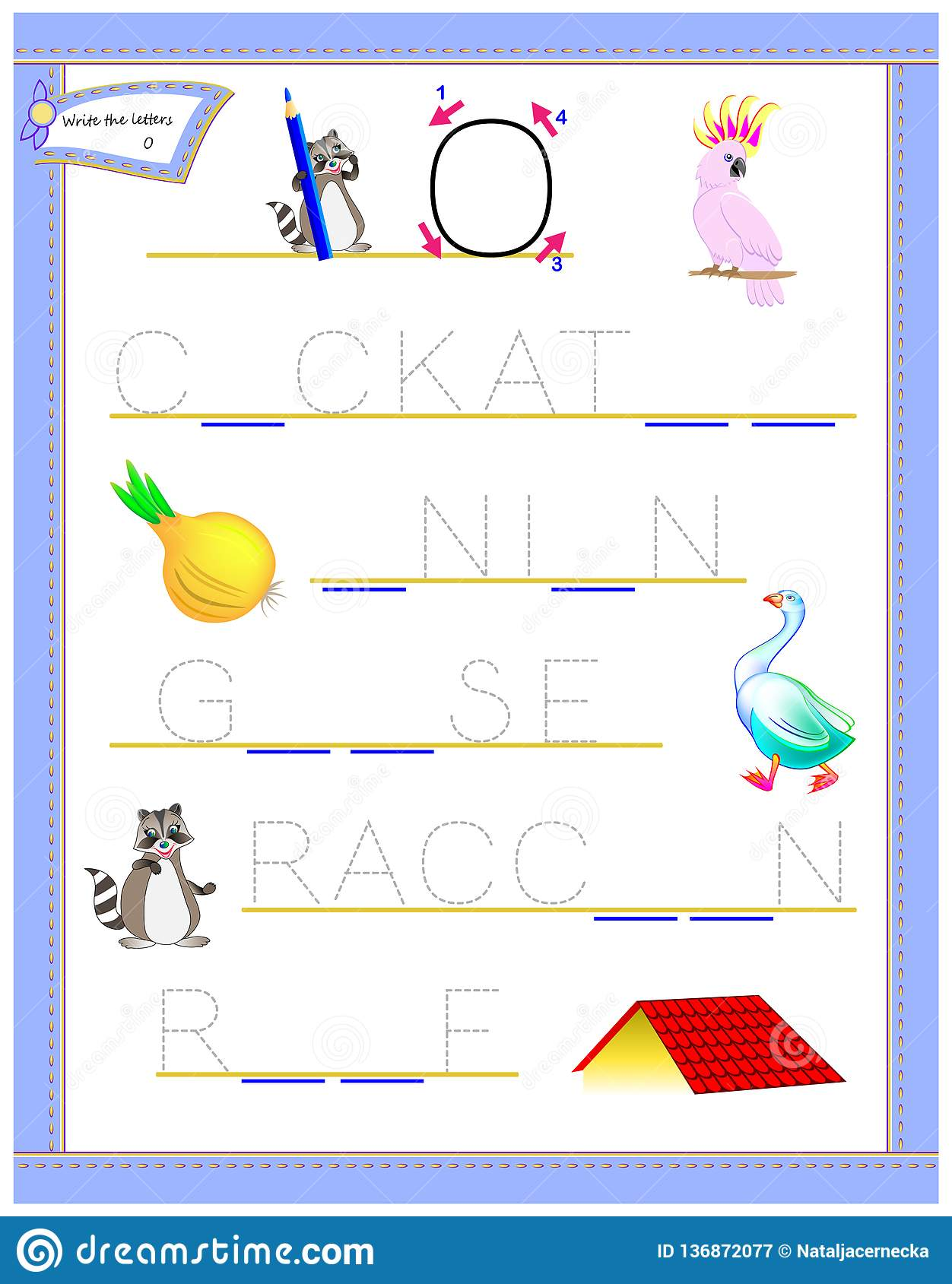 Tracing Letter O For Study English Alphabet Printable