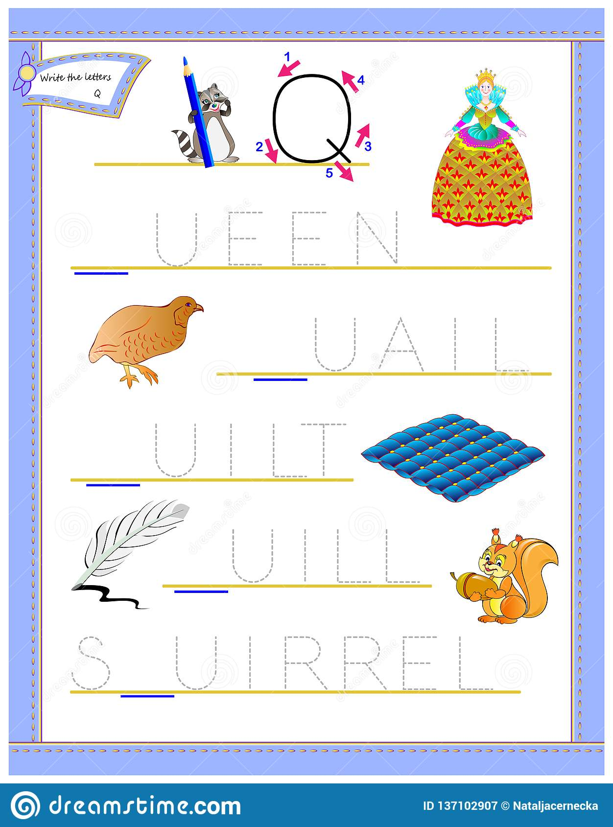 Tracing Letter Q For Study English Alphabet Printable