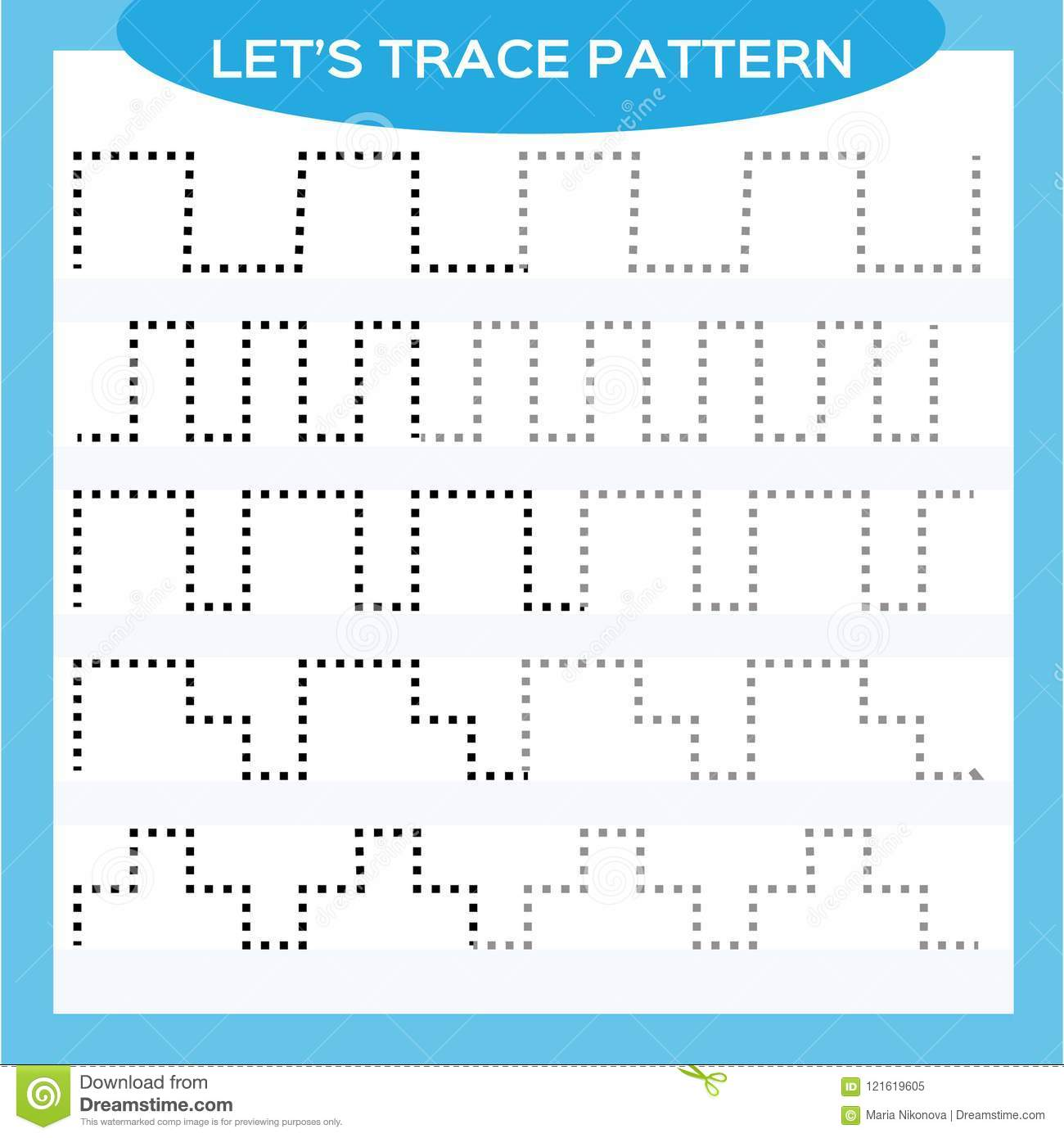 Tracing Lines Activity For Early Years Special For Preschool Kids Worksheet For Practicing