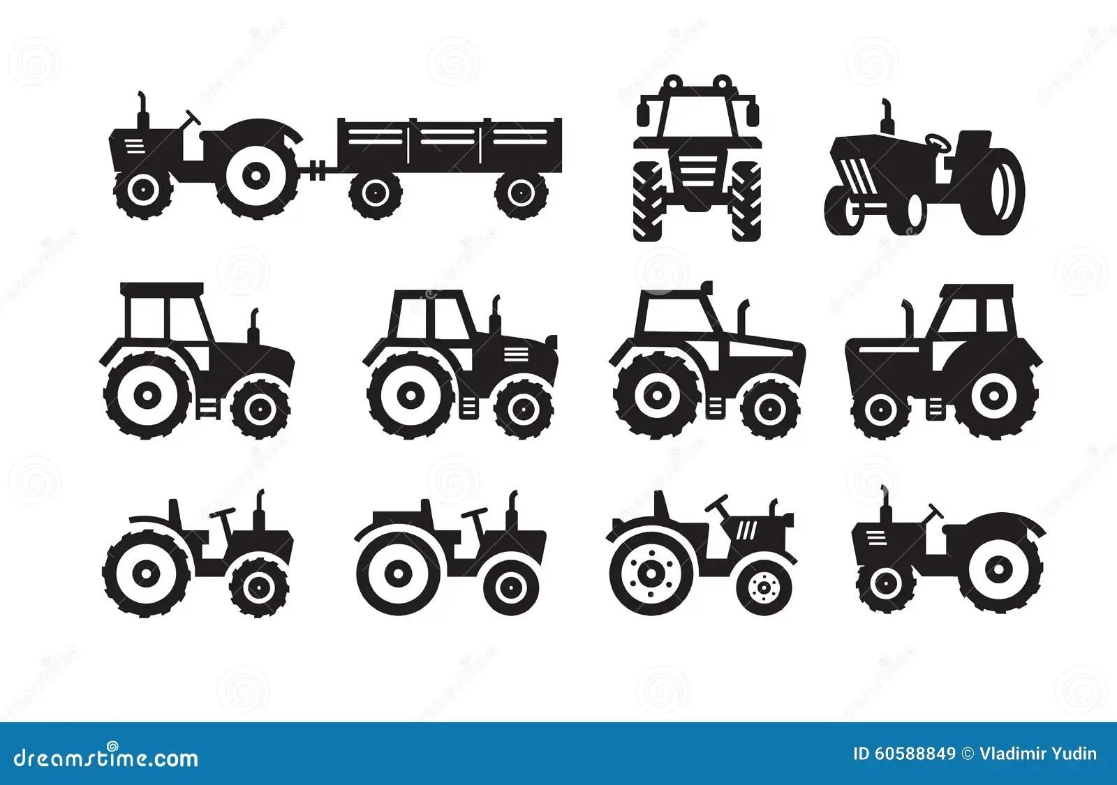 Tractor Icon In Comics Style Cartoon Vector