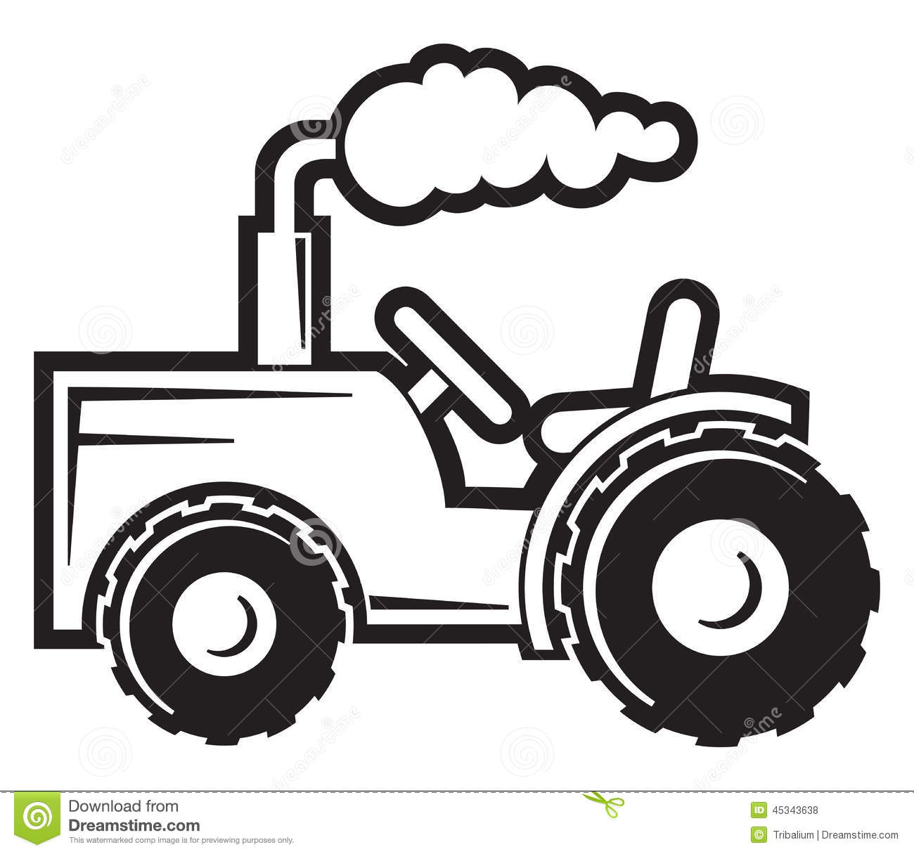 Tractor Stock Vector Illustration Of Road Drive Field