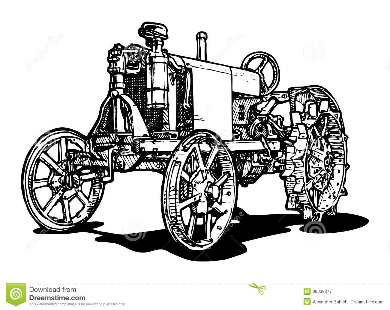 Tractor Stock Vector Illustration Of Antique Classic