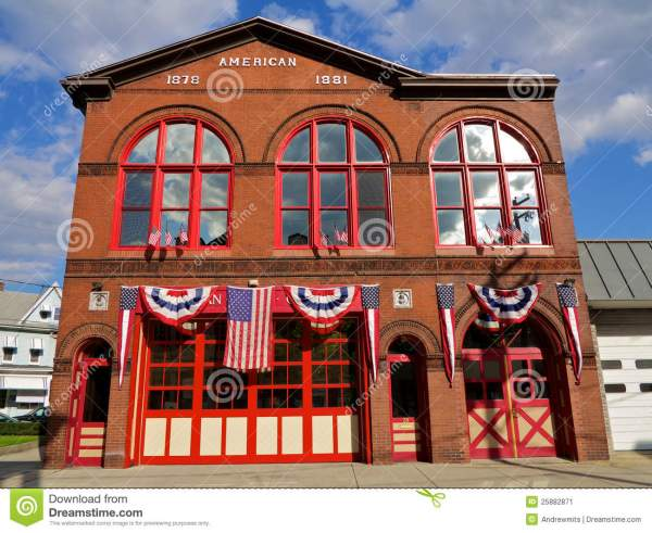 Traditional American Fire House Stock Image Image 25882871