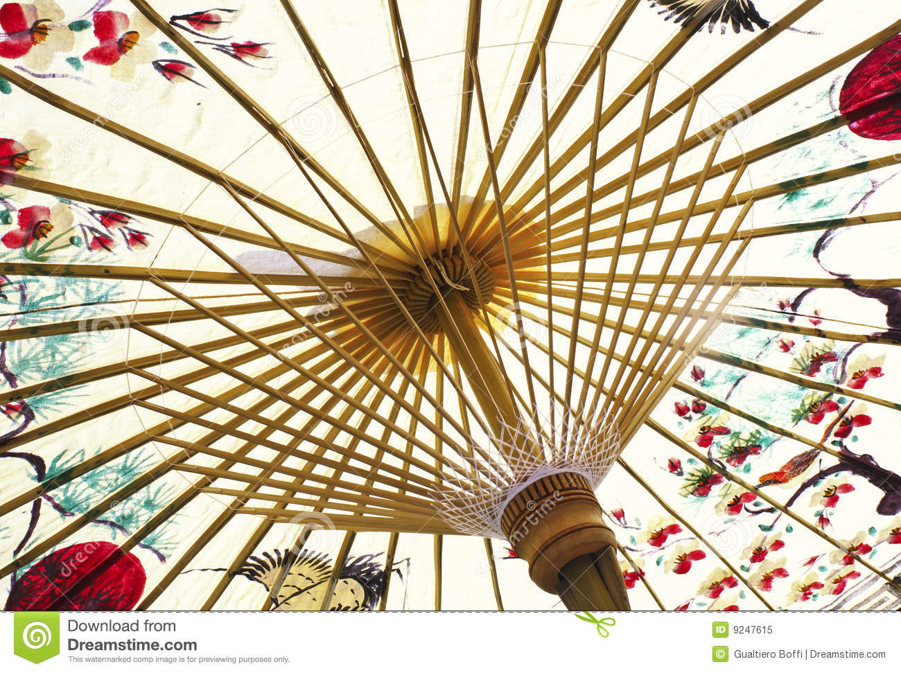 Traditional Asian Paper Umbrella Royalty Free Stock Photo