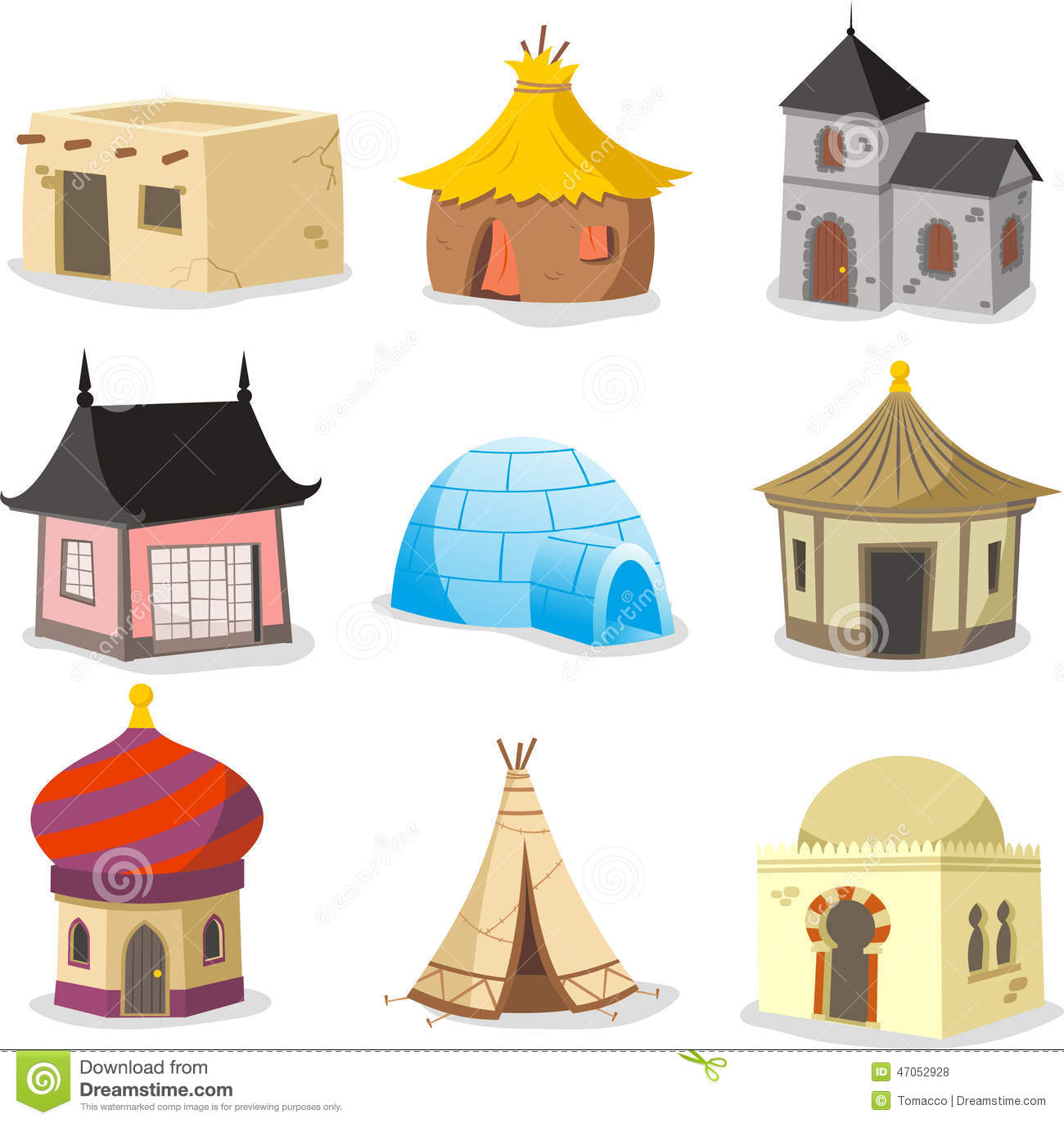 Traditional Houses House Igloo Hut Shack Slum Cabinet