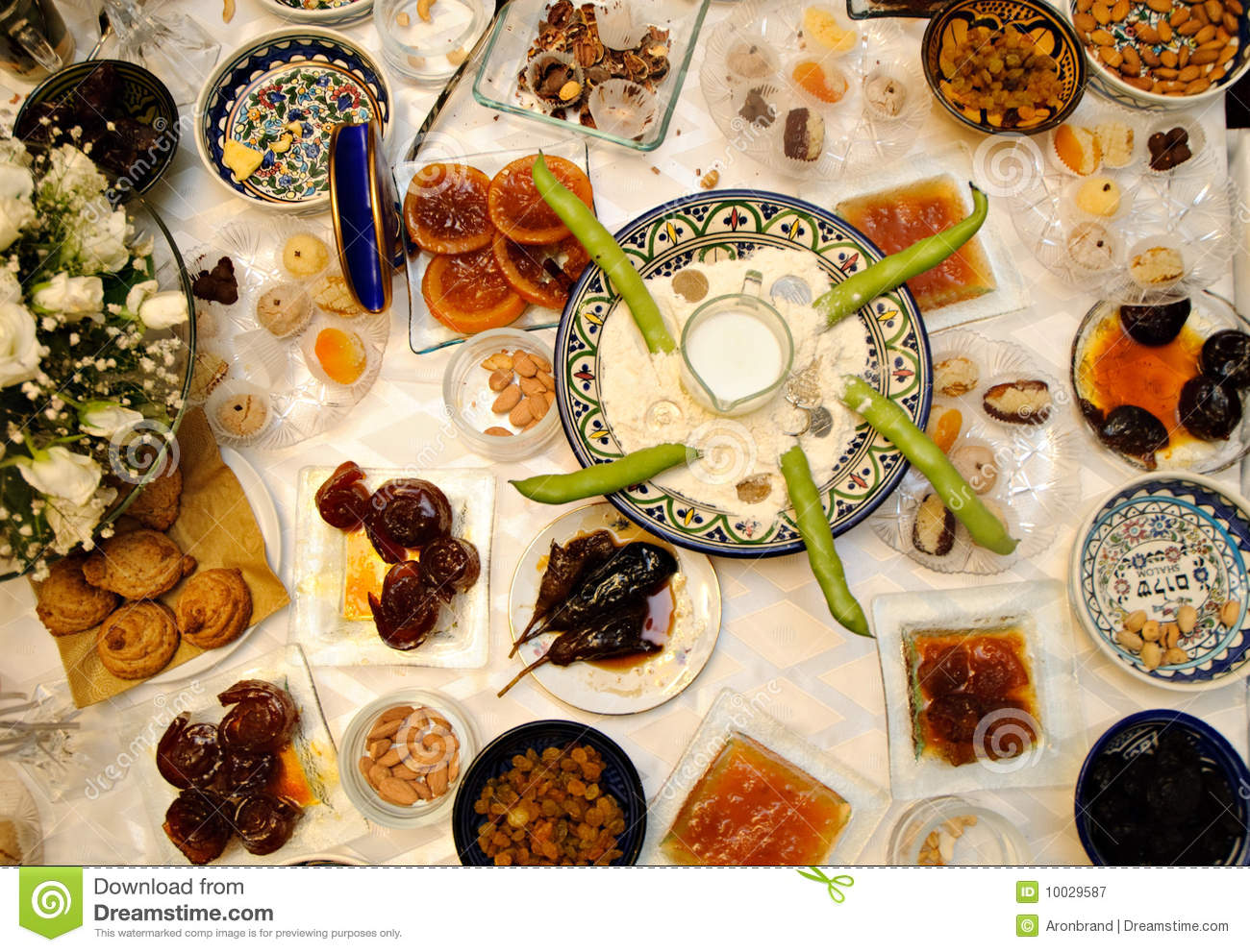 Traditional Jewish Moroccan Feast Called Royalty Free