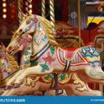 Carousel Horses Merry Go Round Stock Photo Image Of Famous Carnival 125814562