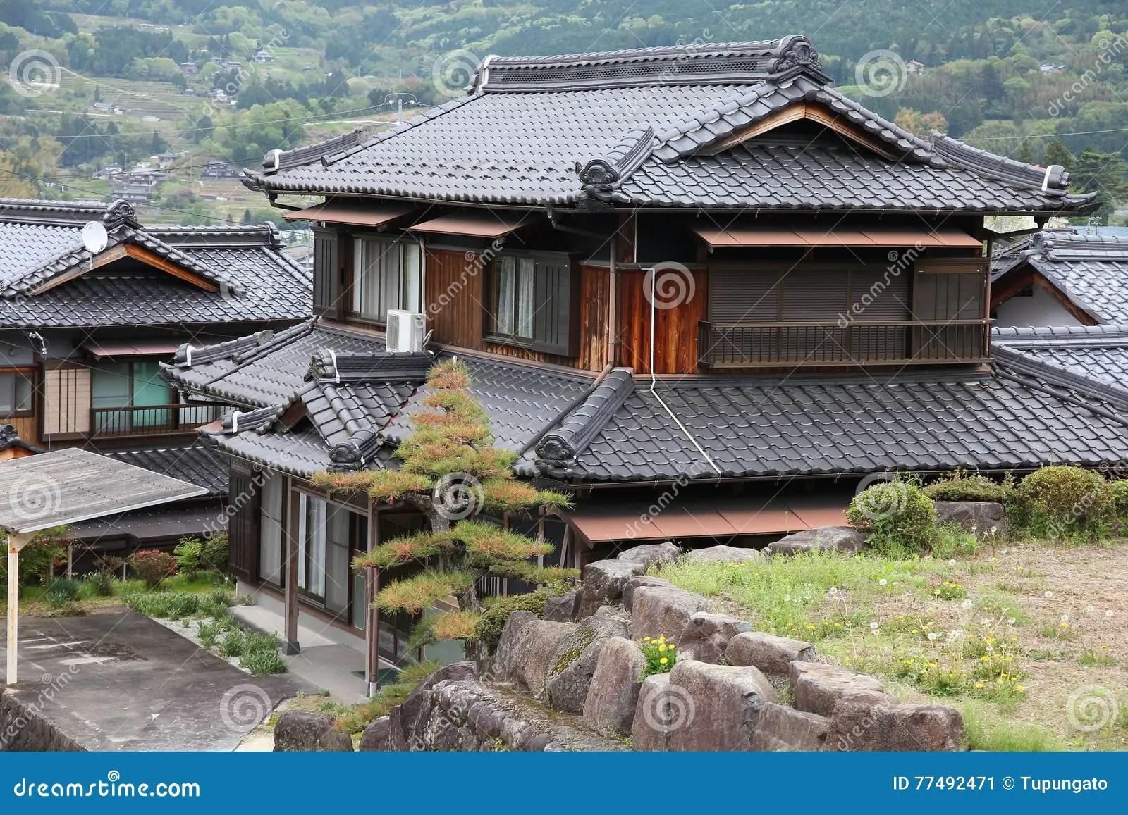 Traditionelles Haus, Japan redaktionelles foto. Bild von