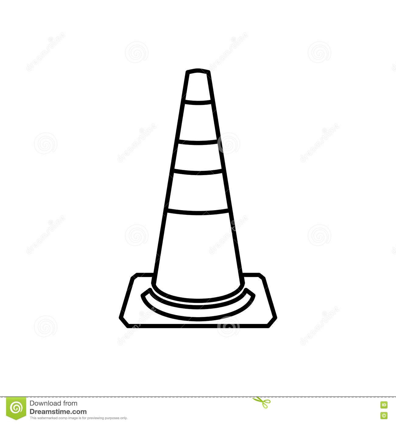 Traffic Barrier Icon In Outline Style Vector Illustration