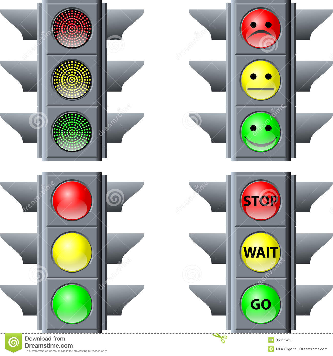 Traffic Light Stock Vector Illustration Of Order