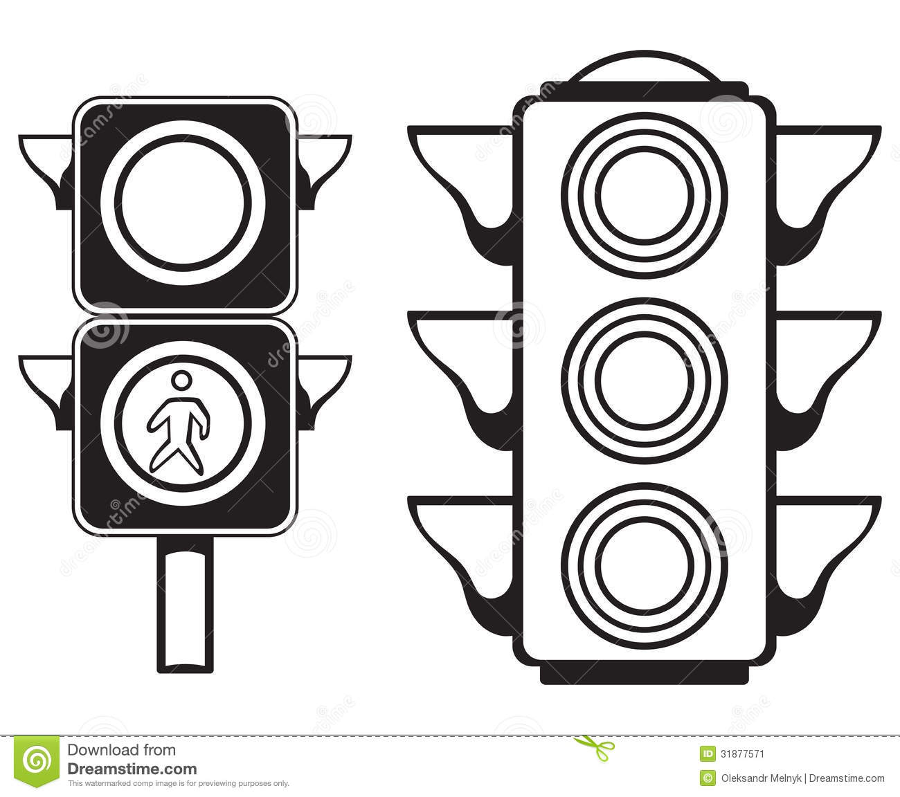 Traffic Light Stock Vector Illustration Of Black