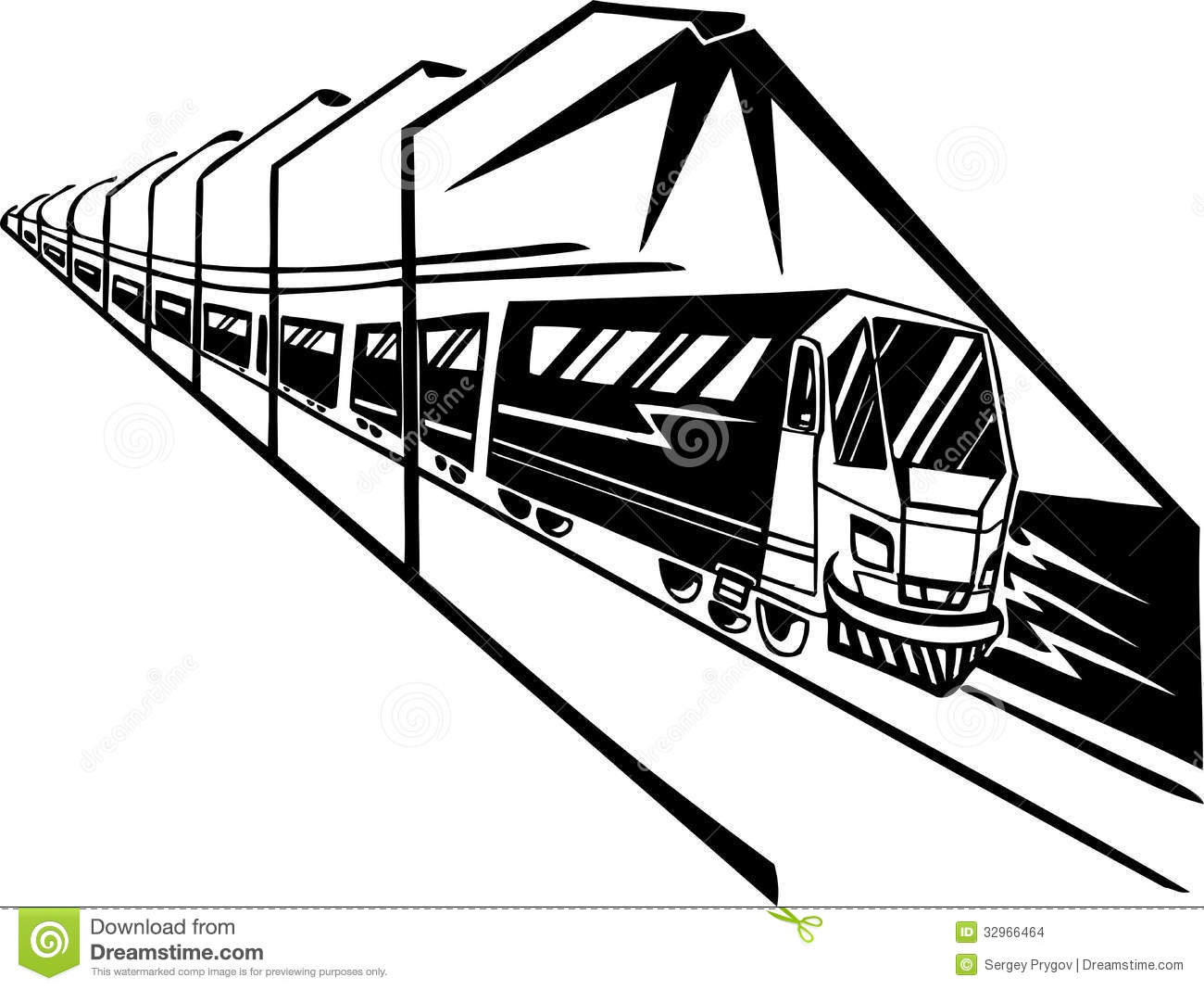 Train On Station Vector Illustration Stock Images