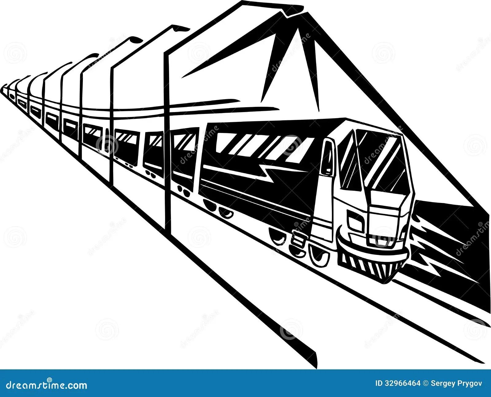 Train On Station Vector Illustration Stock Vector