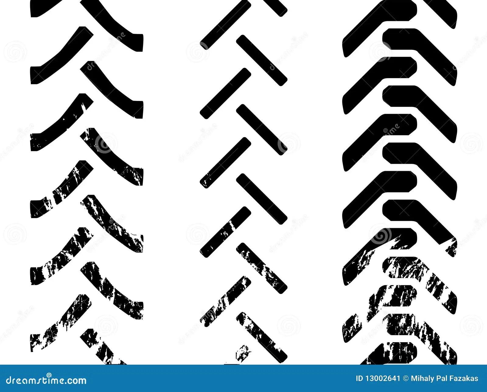 Traktorreifen Vektor Abbildung Illustration Von