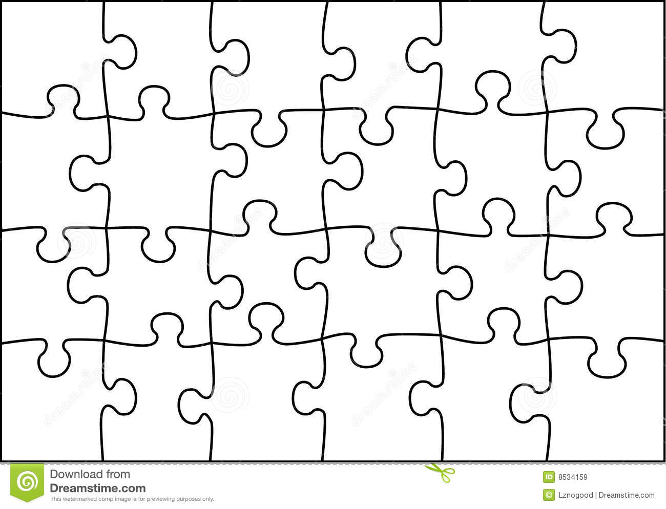 Transparent Puzzle Vector Stock Vector Image Of Skill