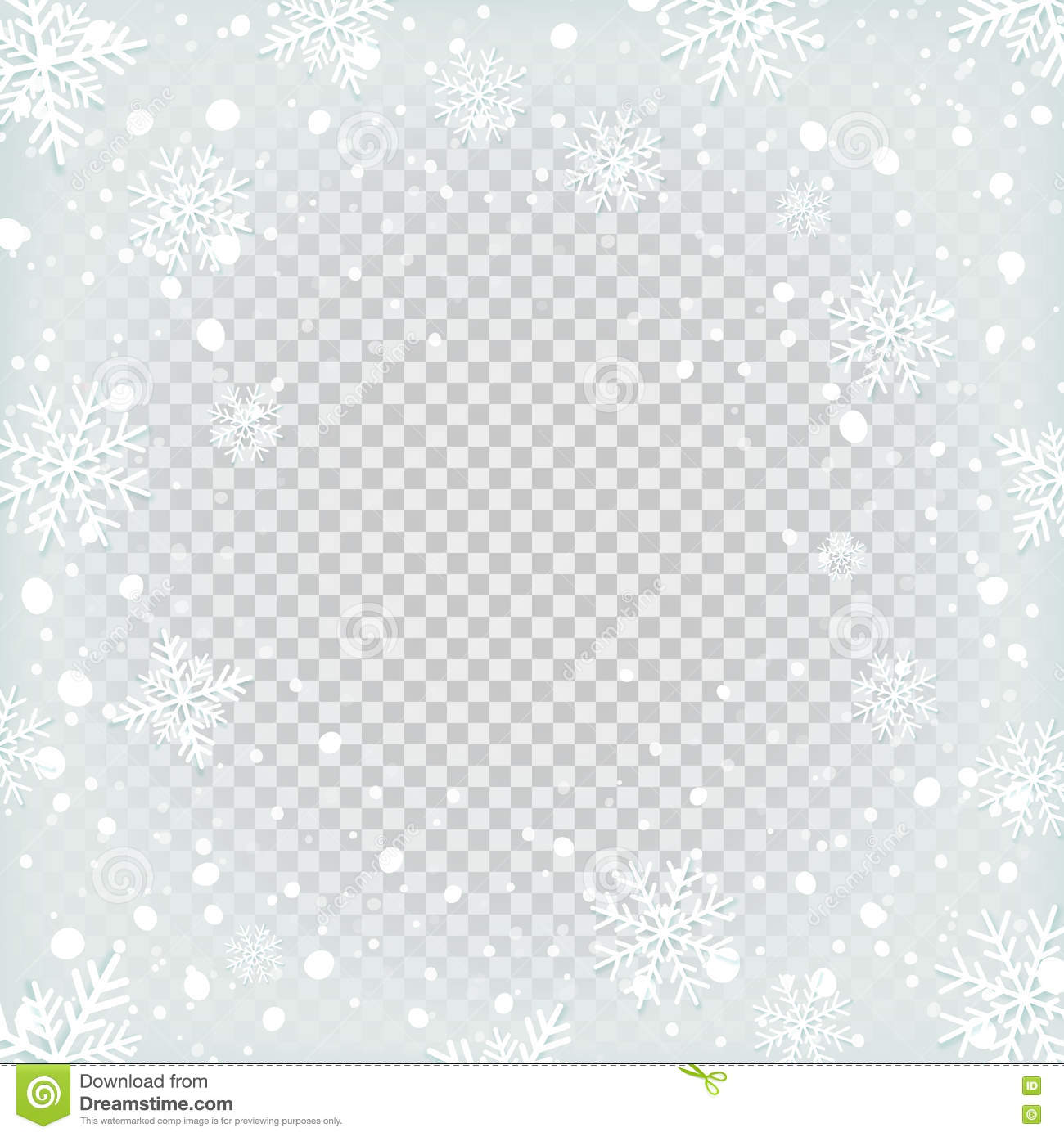 Transparent Snow Background Stock Vector