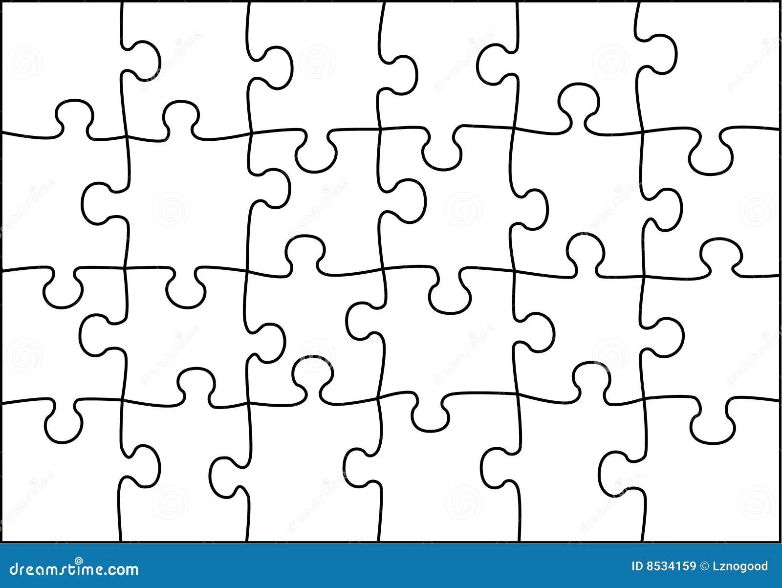 Transparenter Puzzlespielvektor Lizenzfreie Stockbilder