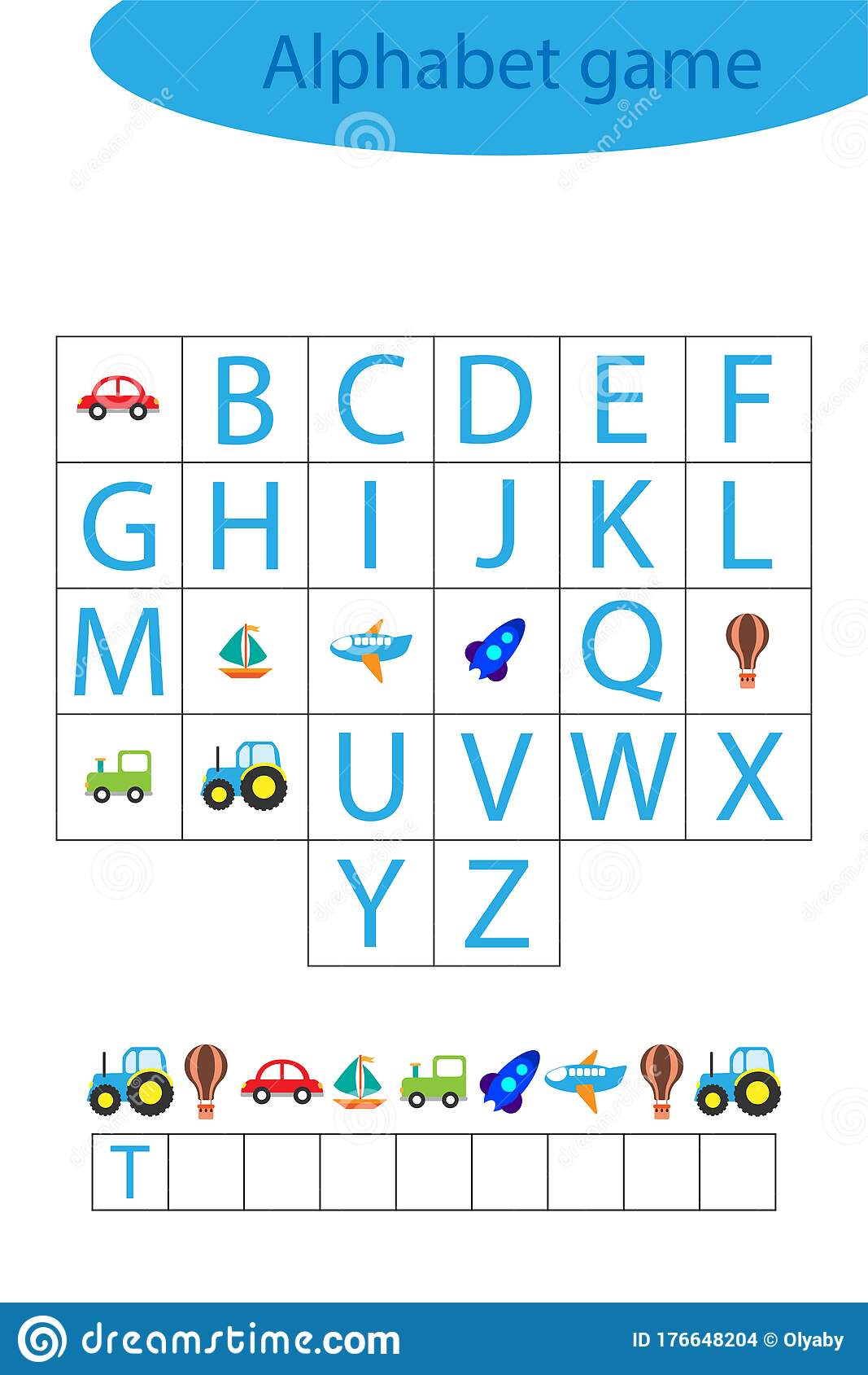 Transport Alphabet Game For Children Make A Word