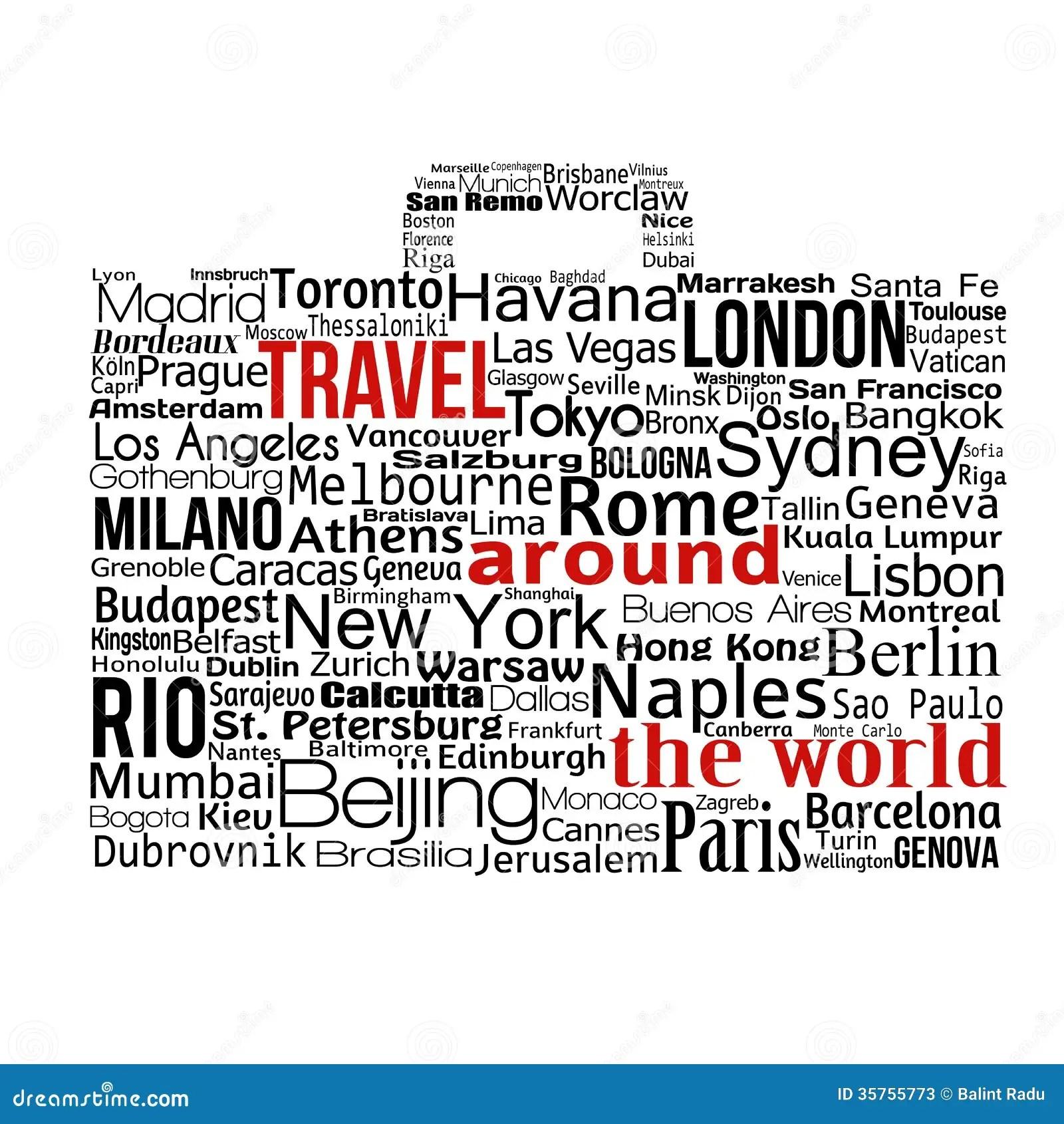 Travel Around The World Concept Stock Vector