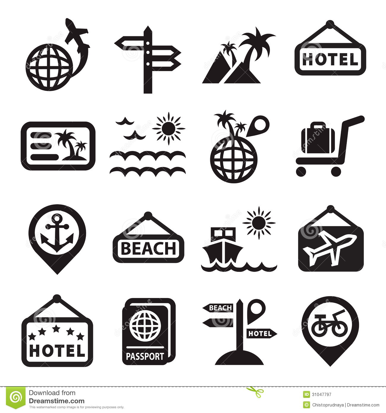 Travel Vector Icons Stock Vector Illustration Of Palace