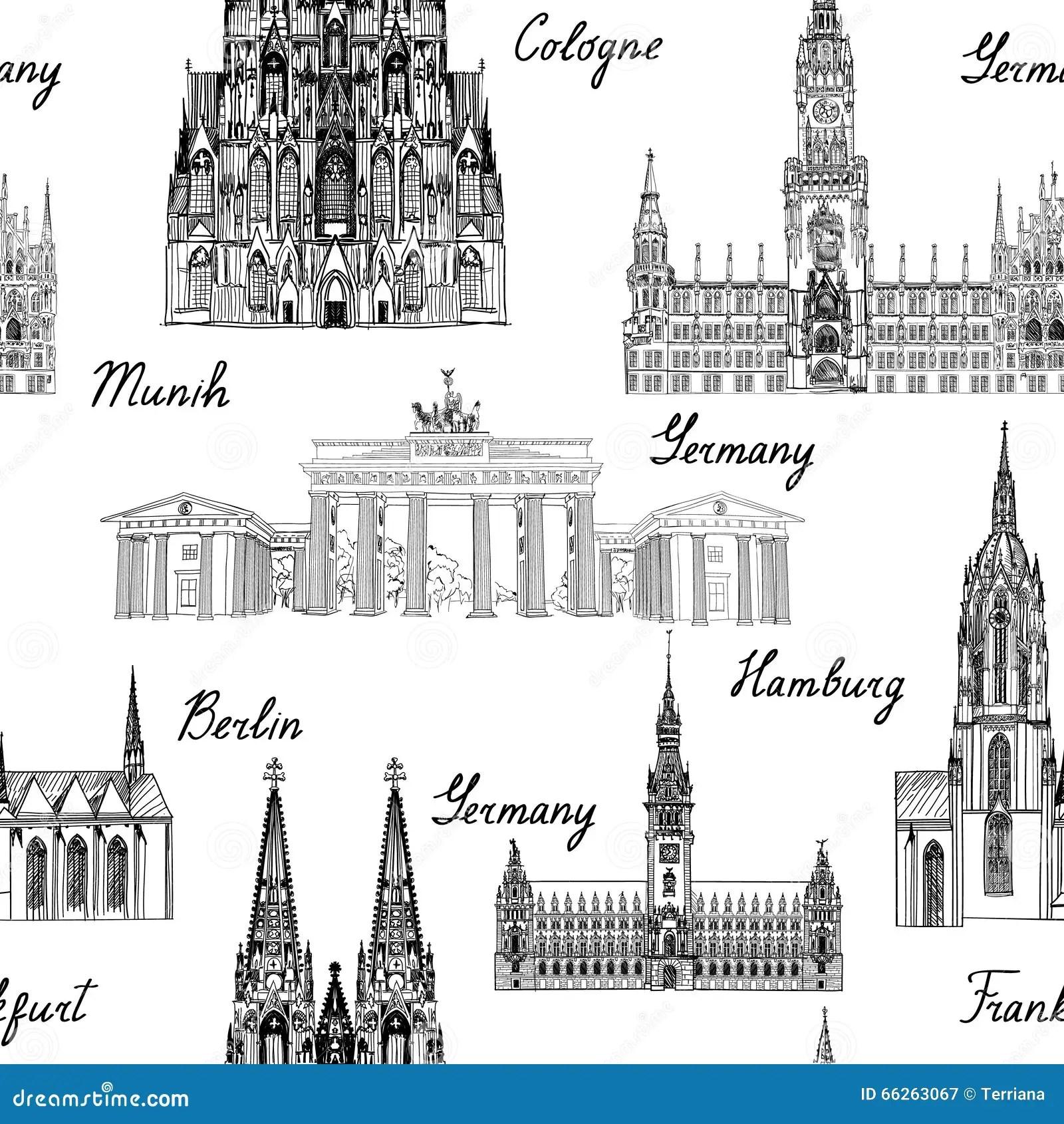 Cologne Skyline Emblem Cartoon Vector