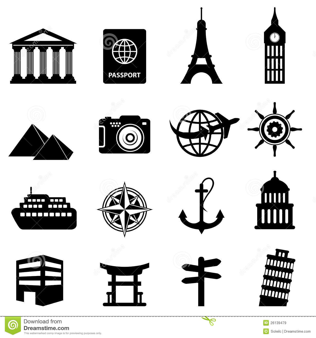 Travel And Tourism Icons Royalty Free Stock Images