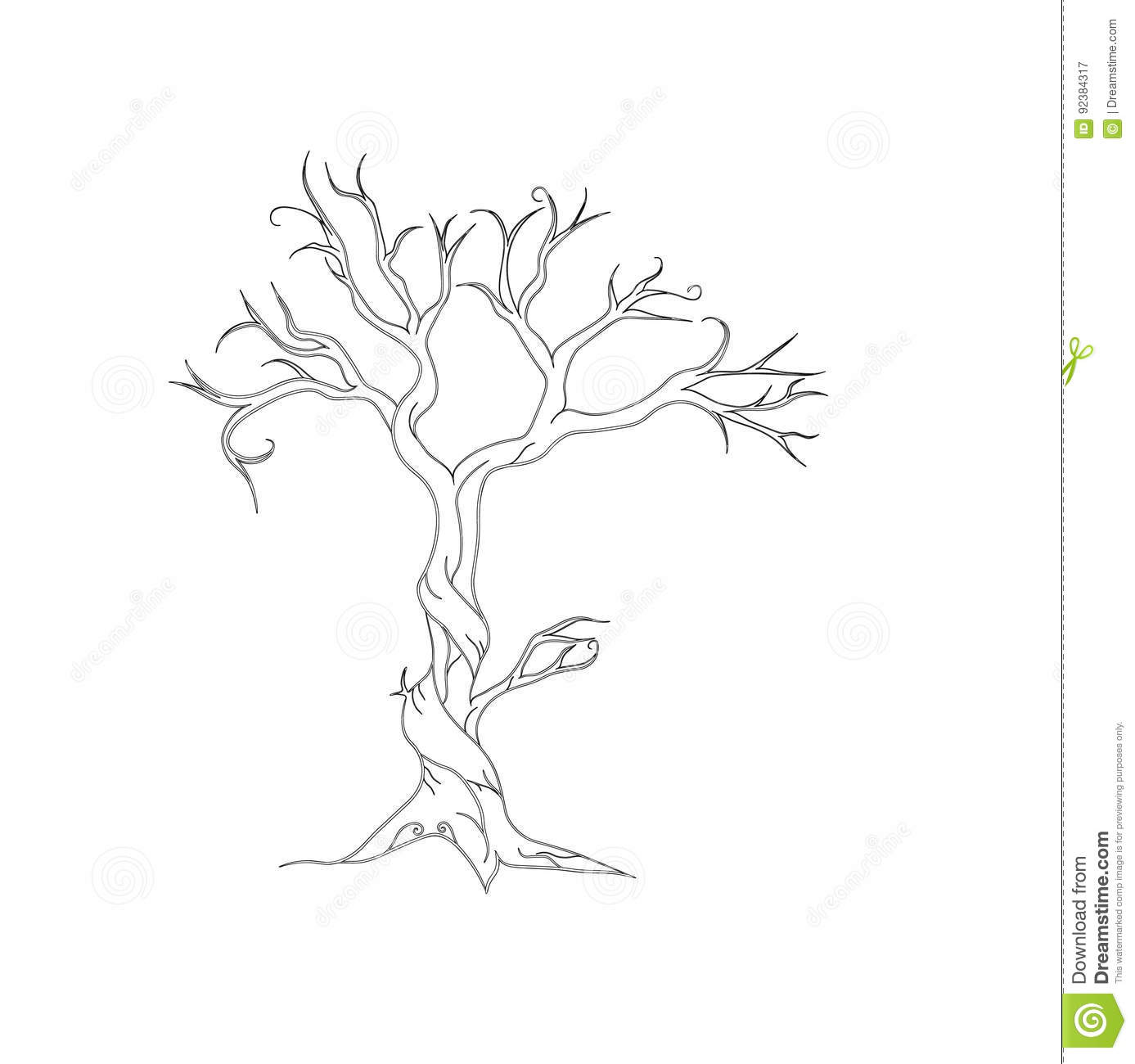 Tree Stock Vector Image Of Background Artistic Dried