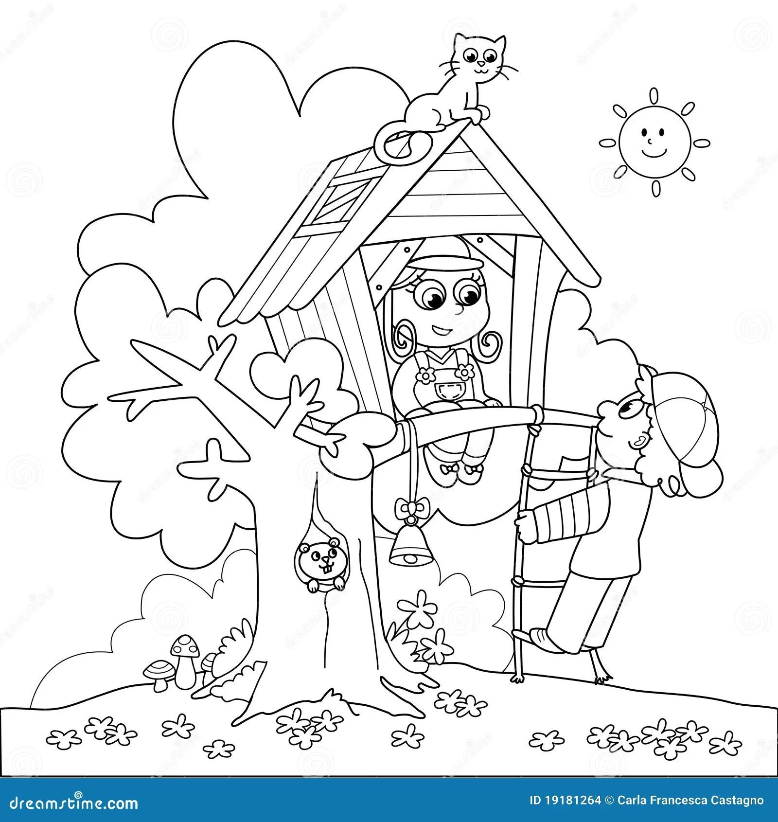 Tree House Stock Illustration Illustration Of Smiling