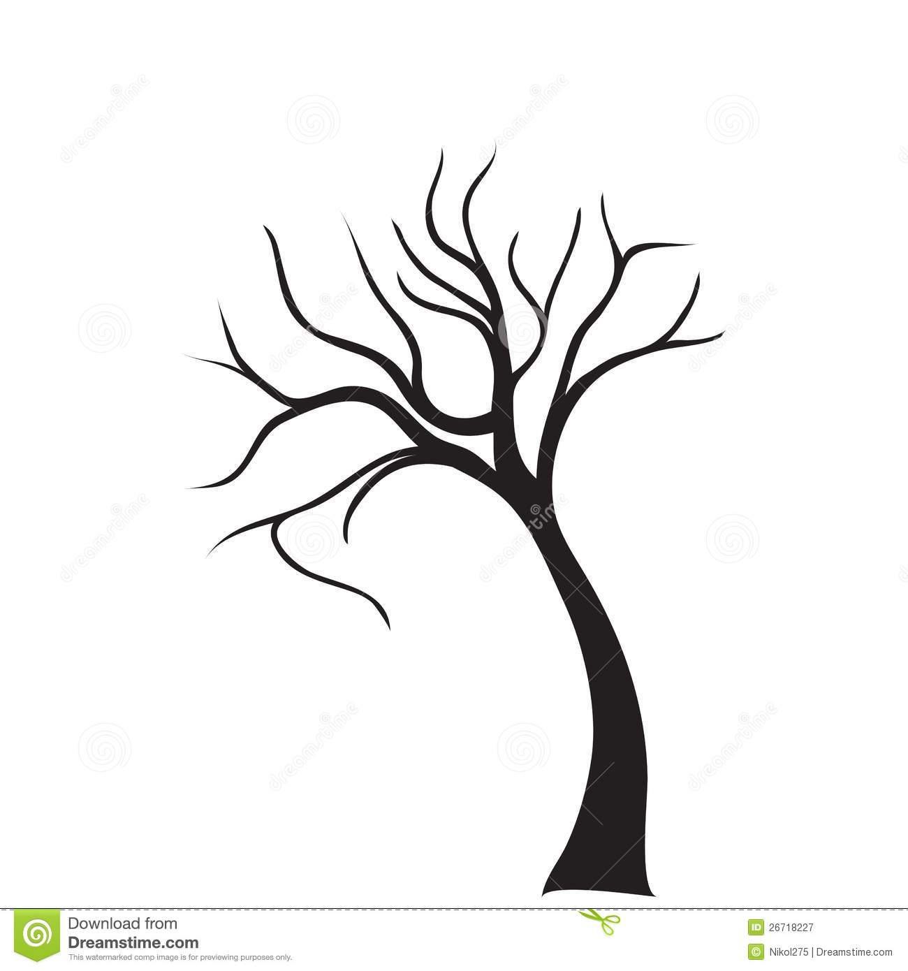 Tree Vector Stock Vector Illustration Of Distressed