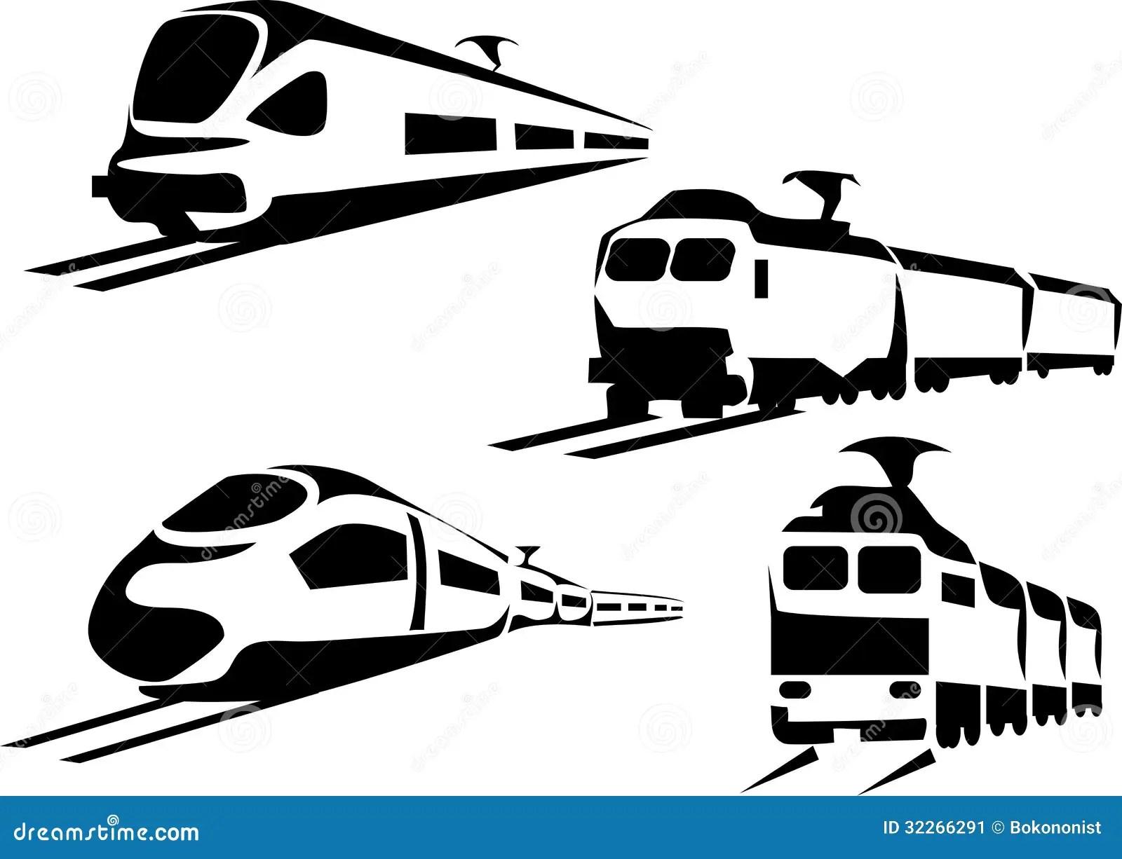 Treno Illustrazione Vettoriale Illustrazione Di Corsa