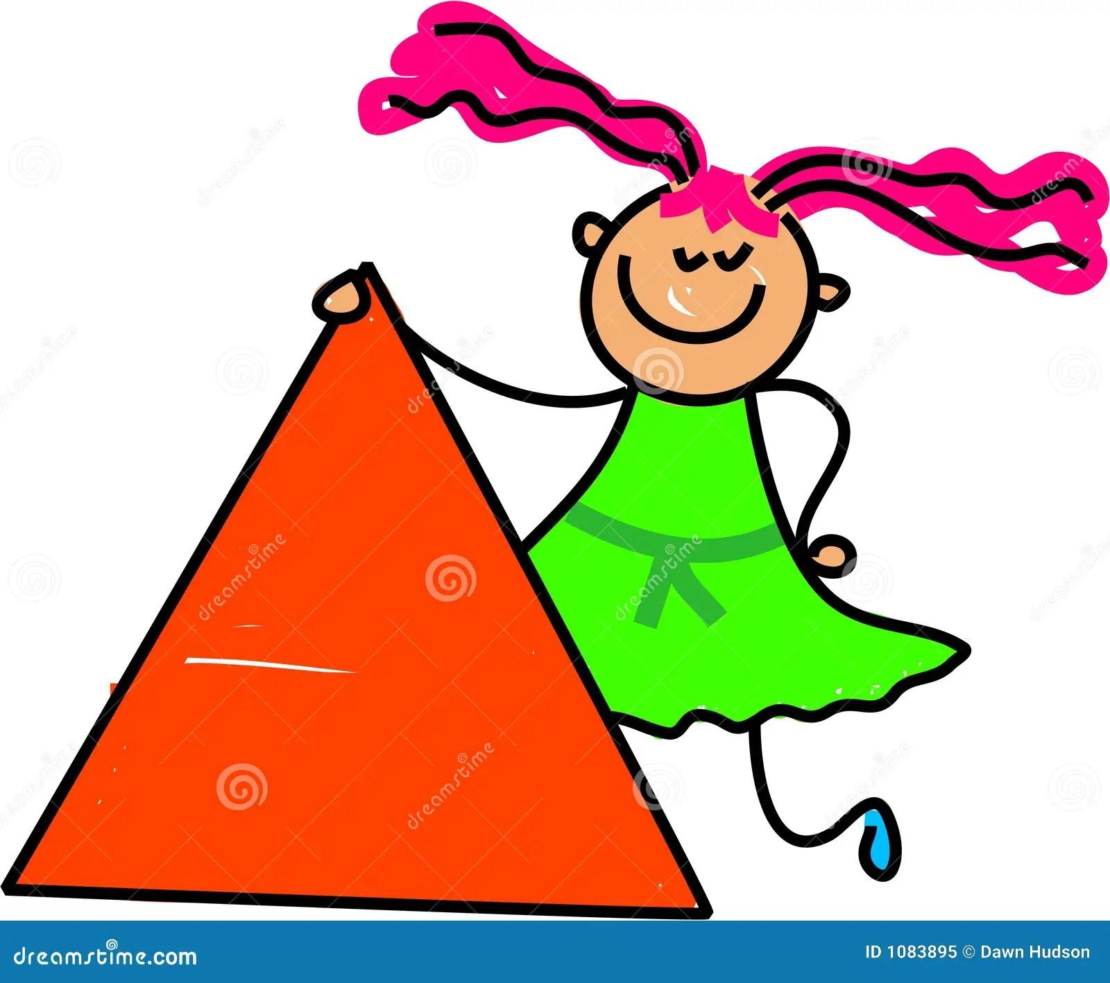 Triangle Kid Stock Vector Illustration Of Nursery Infant