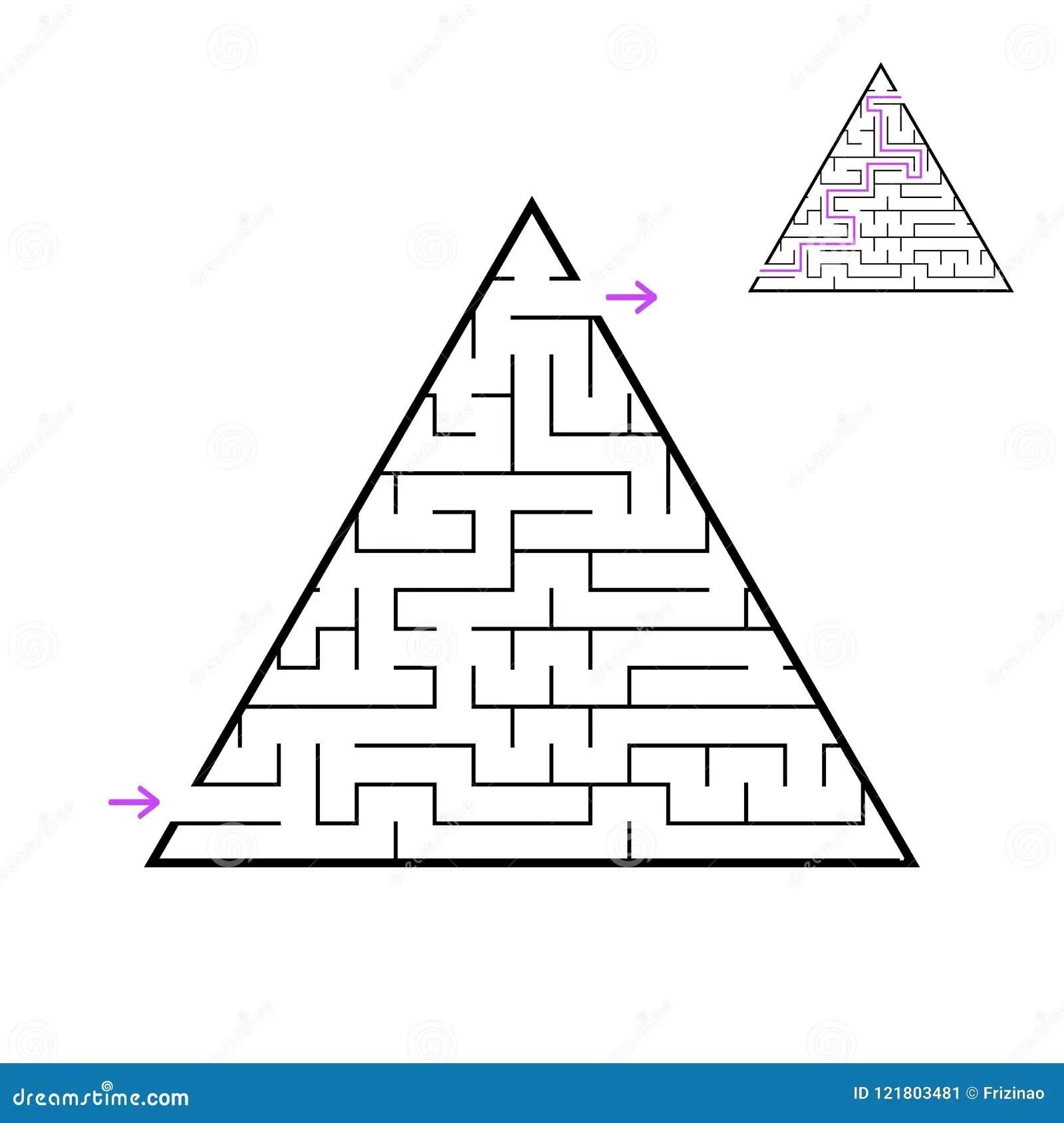 A Triangular Labyrinth A Pyramid With A Black Stroke A
