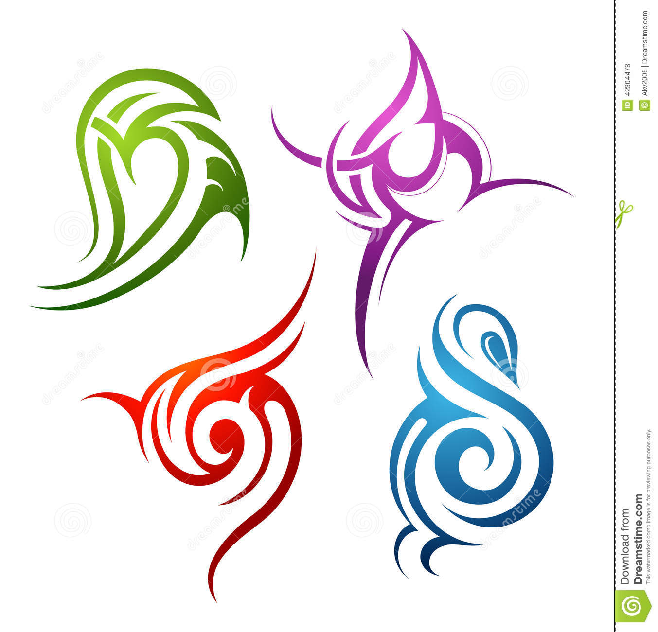 Symbols Of The Elements Earth Air Fire Water Spirit