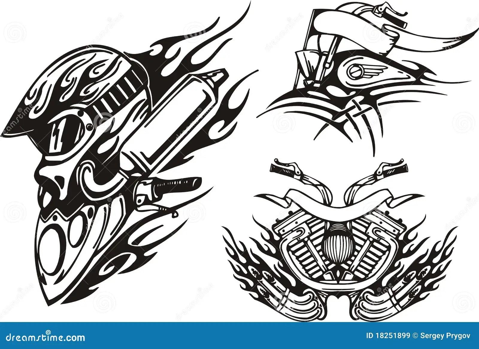 Tribal Bikes Stock Illustration Illustration Of Gasoline