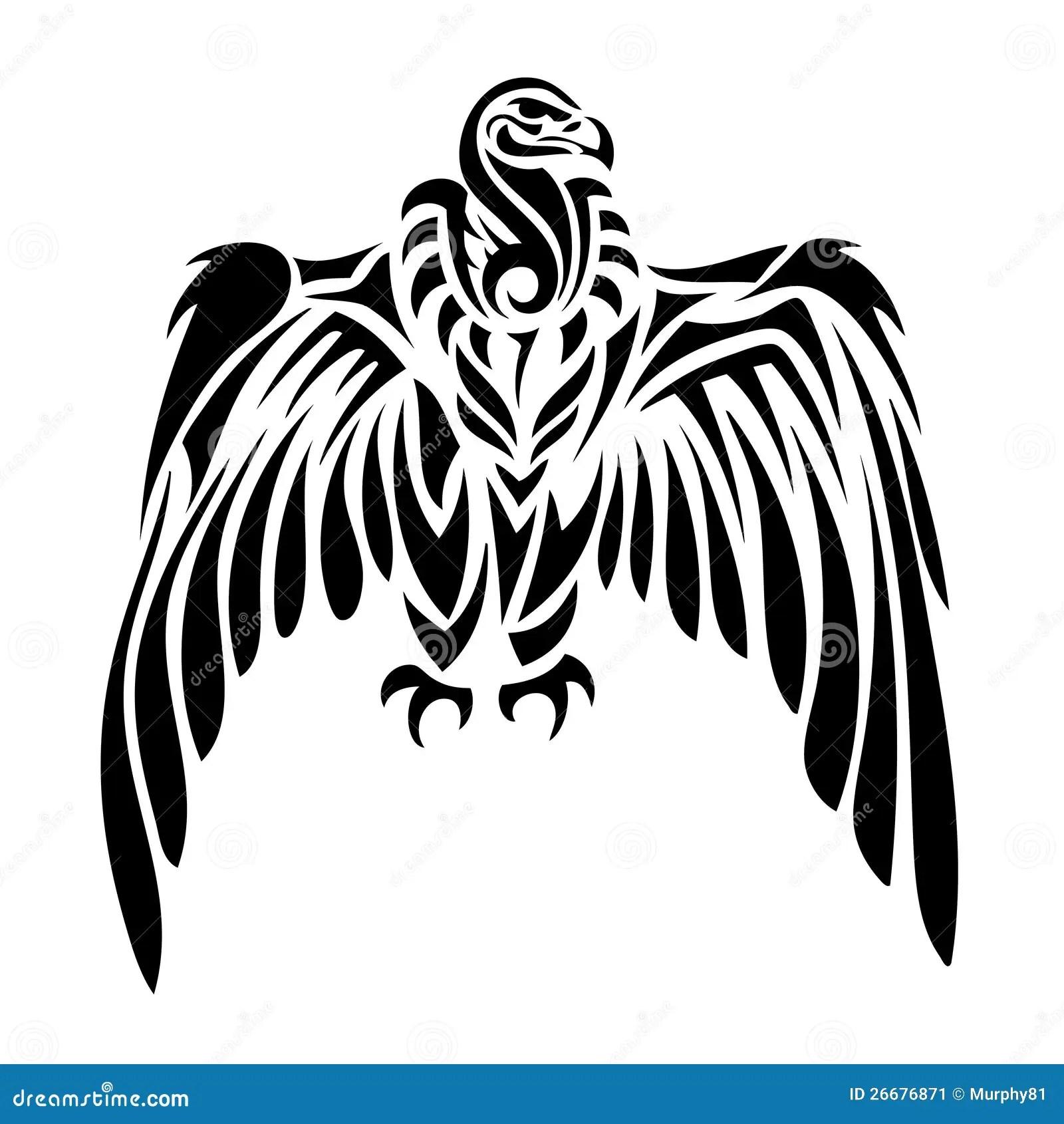 Tribal Vulture Cartoon Vector