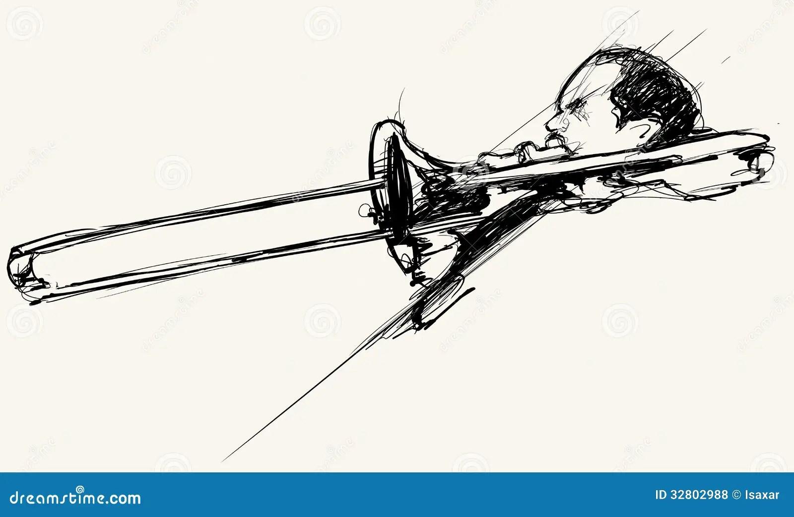 Trombone Player Royalty Free Stock Photos