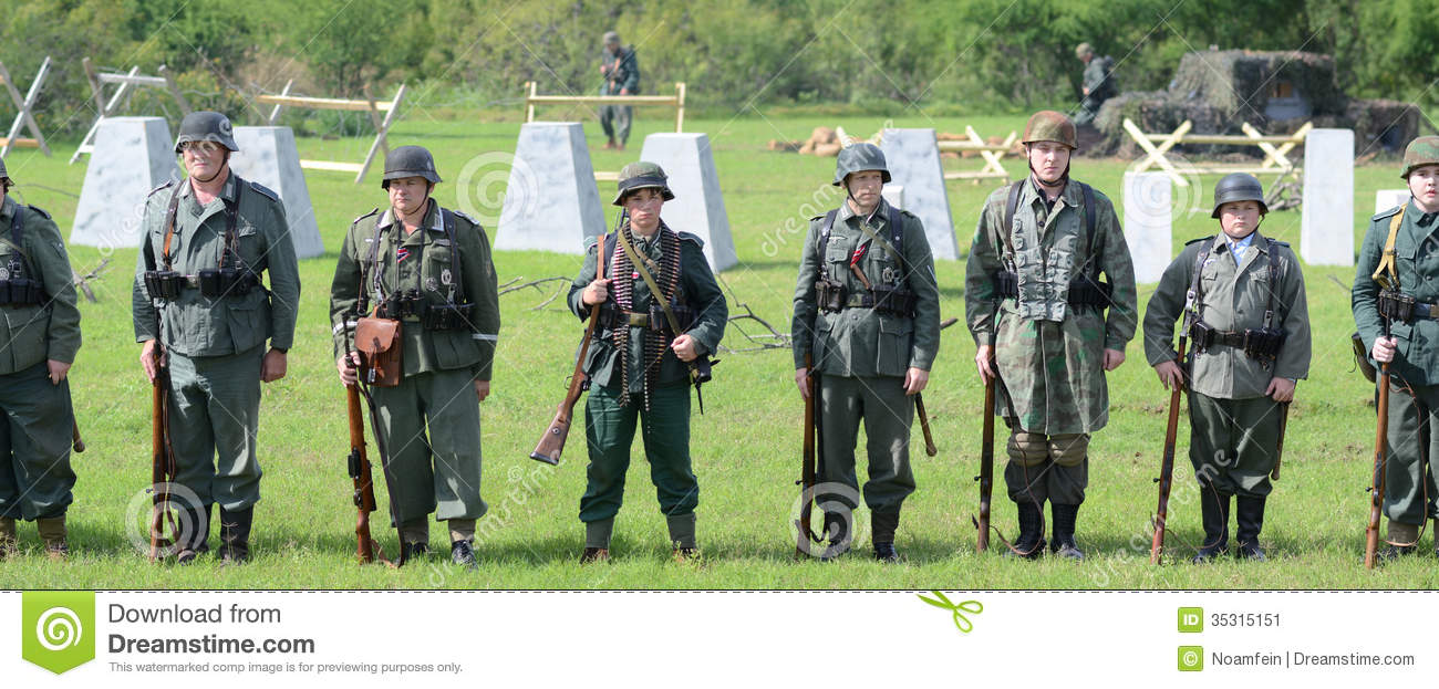 Troops At WWII Reenactment Editorial Photo Image 35315151