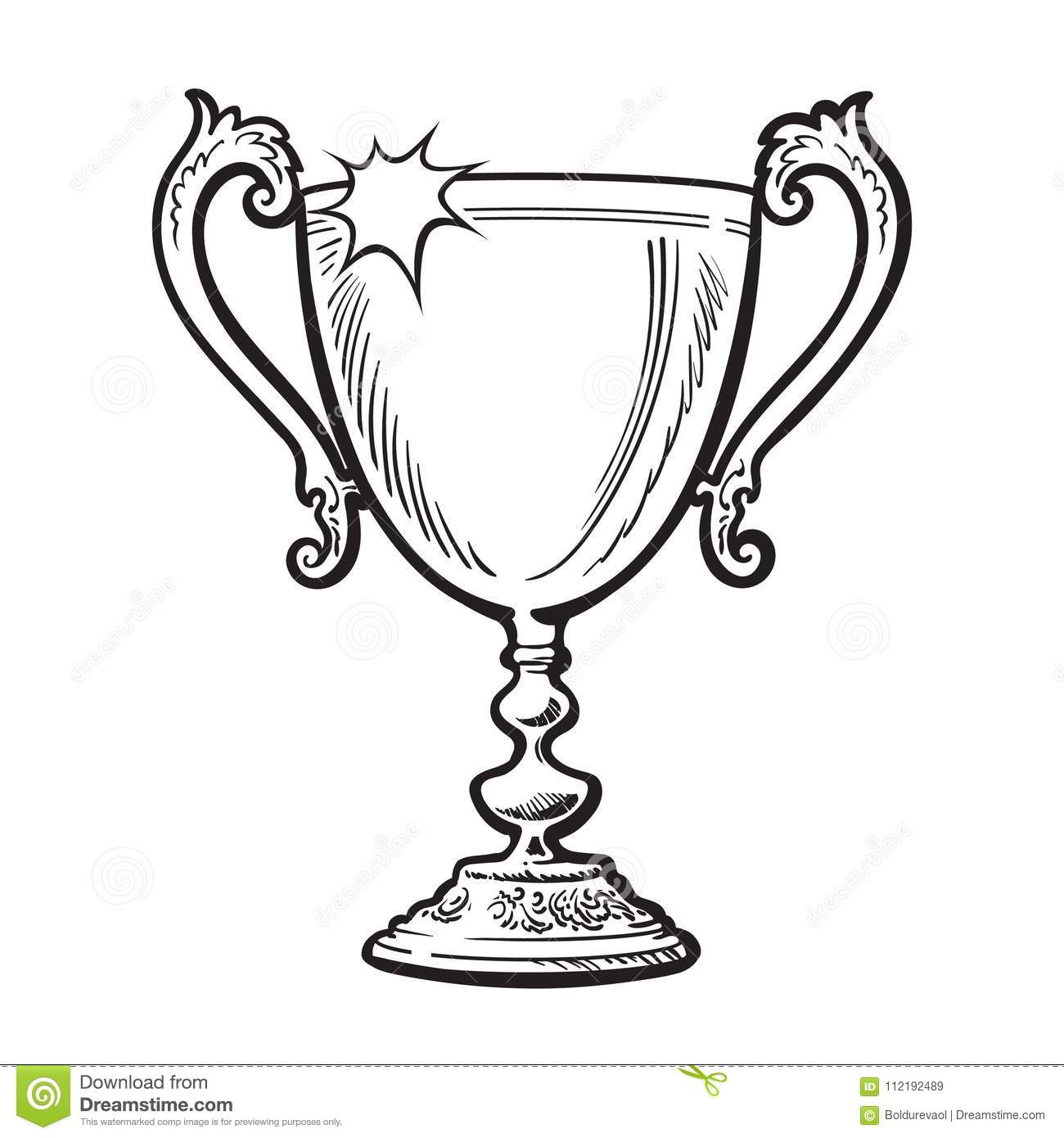 Trophy Winner Cup Stock Vector Illustration Of Prize