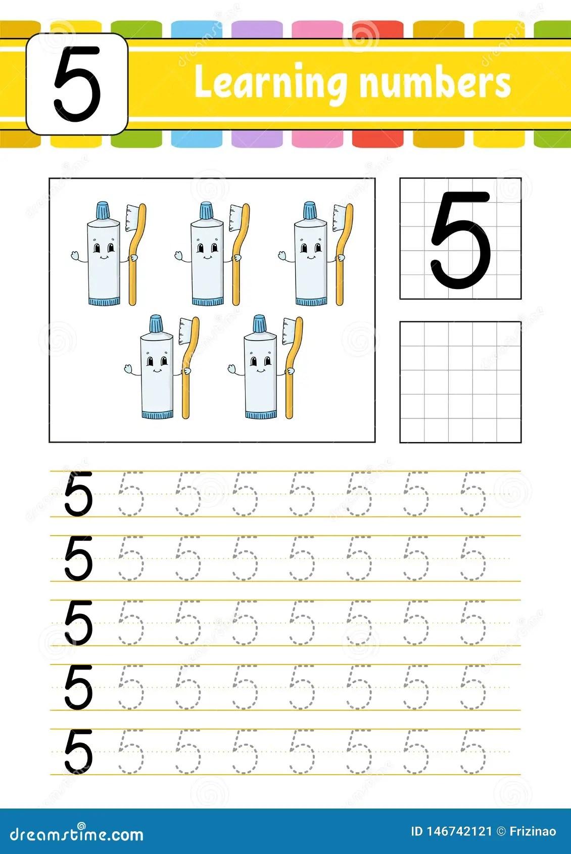 Tropi I Pisze Pismo Praktyki Uczy Si Liczby Dla Dzieciak